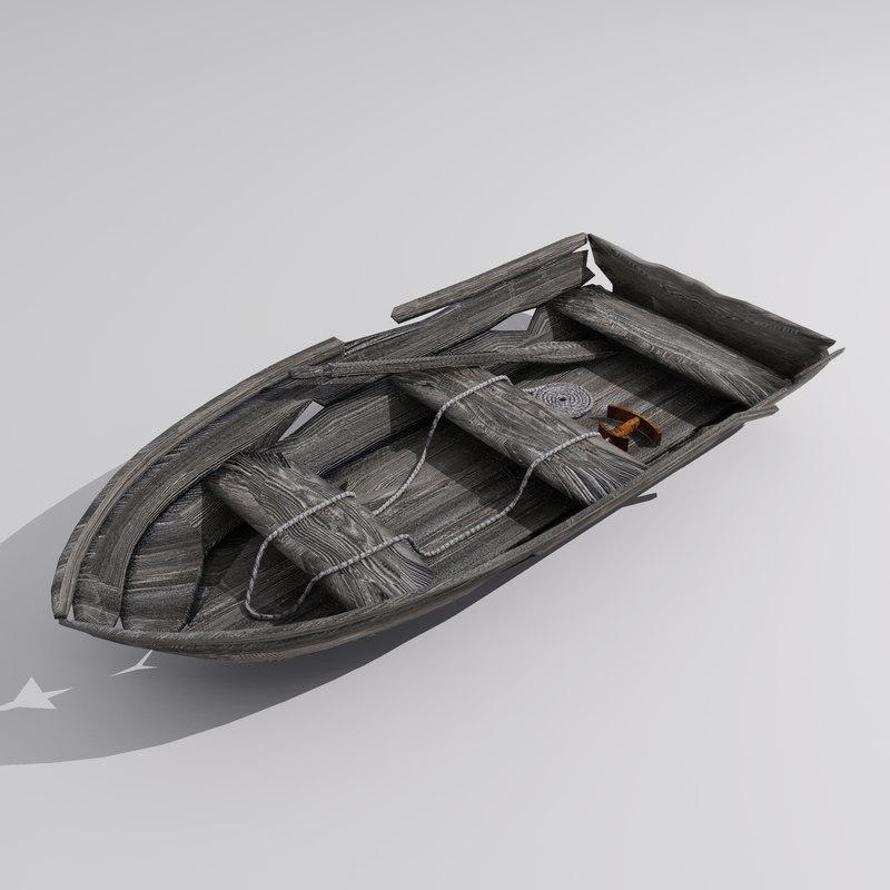 Searched 3d models for Boat, crashed old