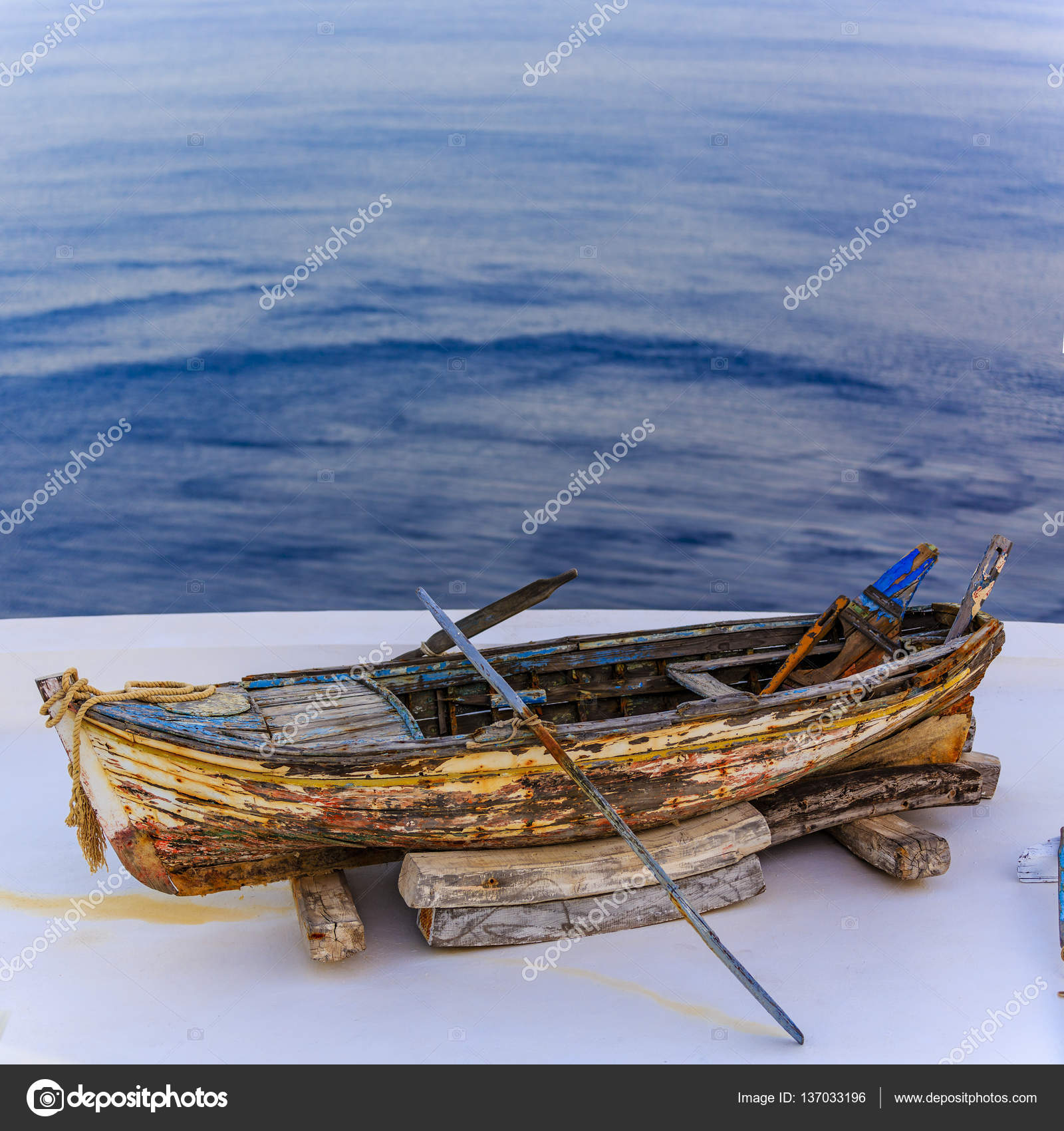 close up view of Old boat — Stock Photo © Gorilla #137033196