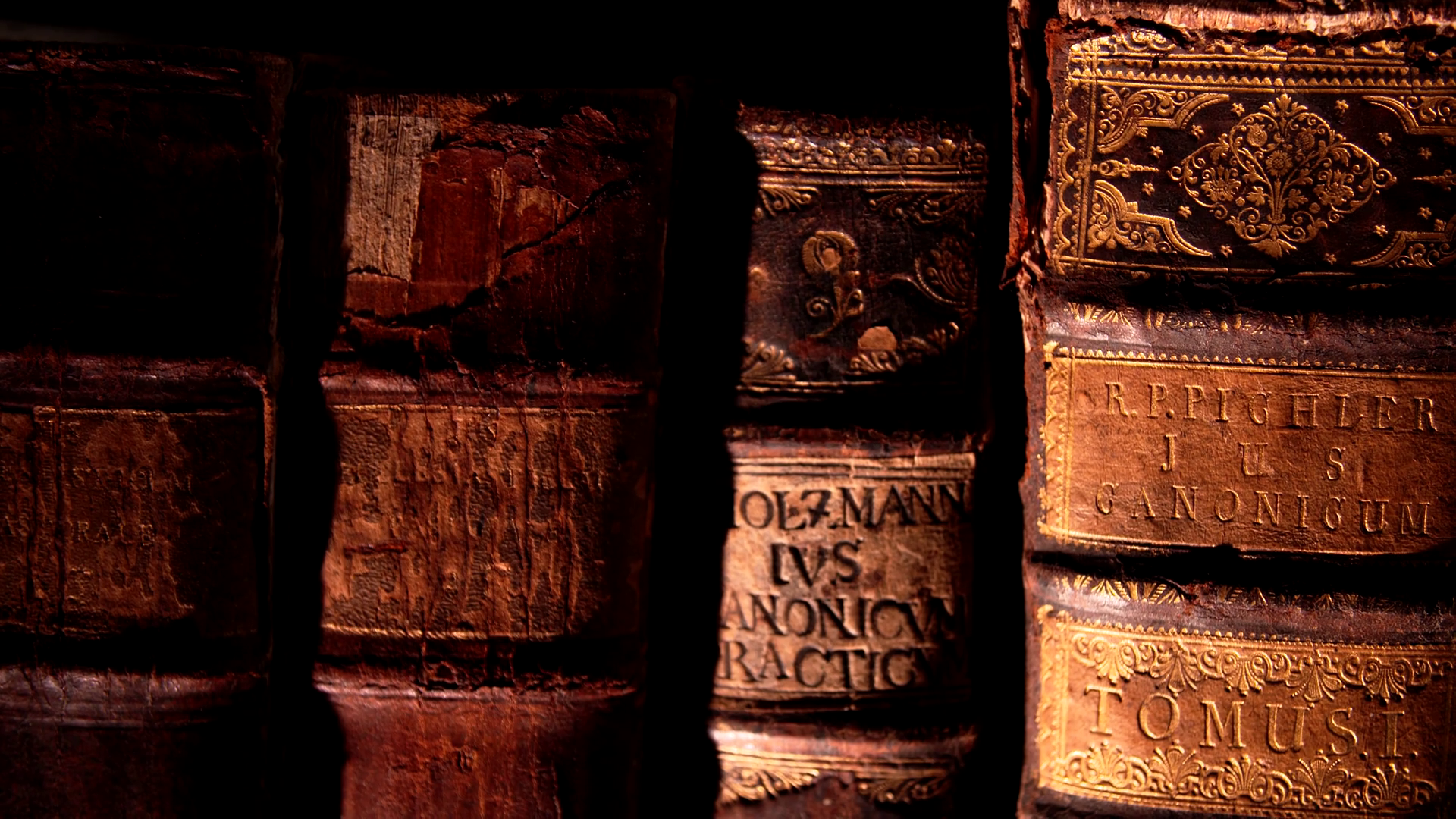 Old books in a historic library. 4K Video footage Stock Video ...