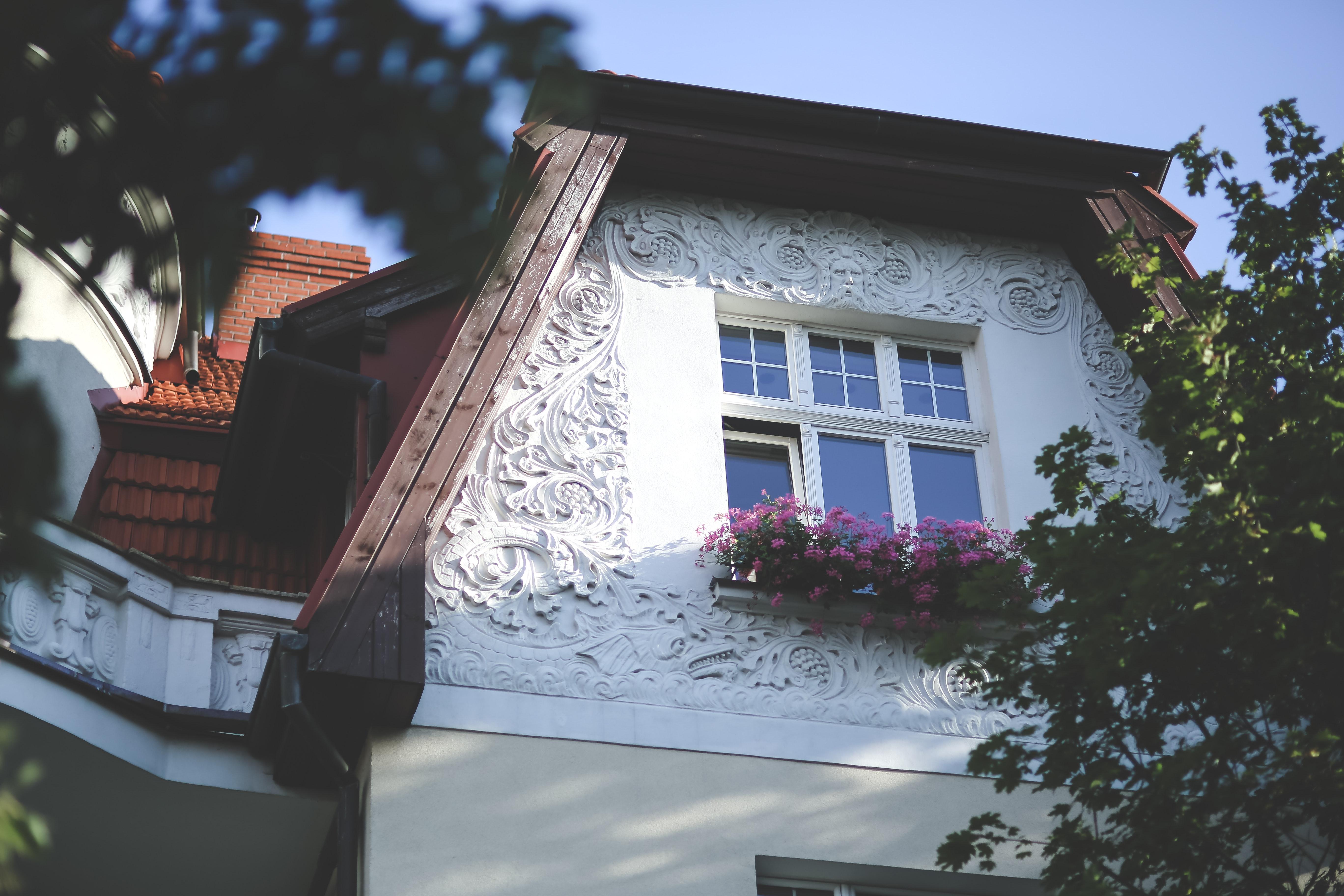 Old building, Architecture, Ornaments, Window, White, HQ Photo