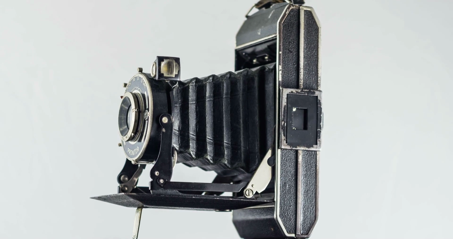 Old Camera Prontor Black Chrome Body Rotating 30 Fps Photojpg Stock ...