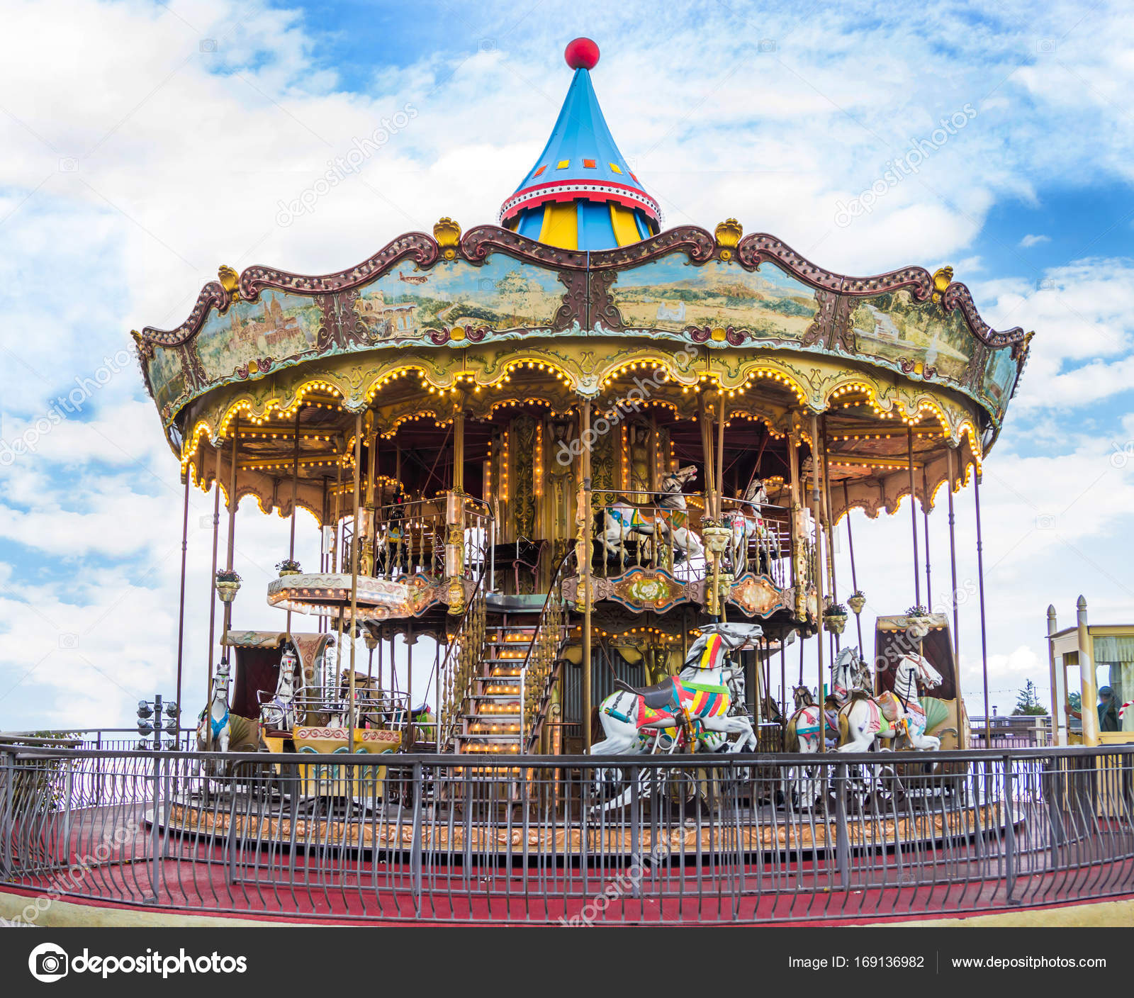 An old roundabout. Round carousel — Stock Photo © And.rey88@mail.ru ...