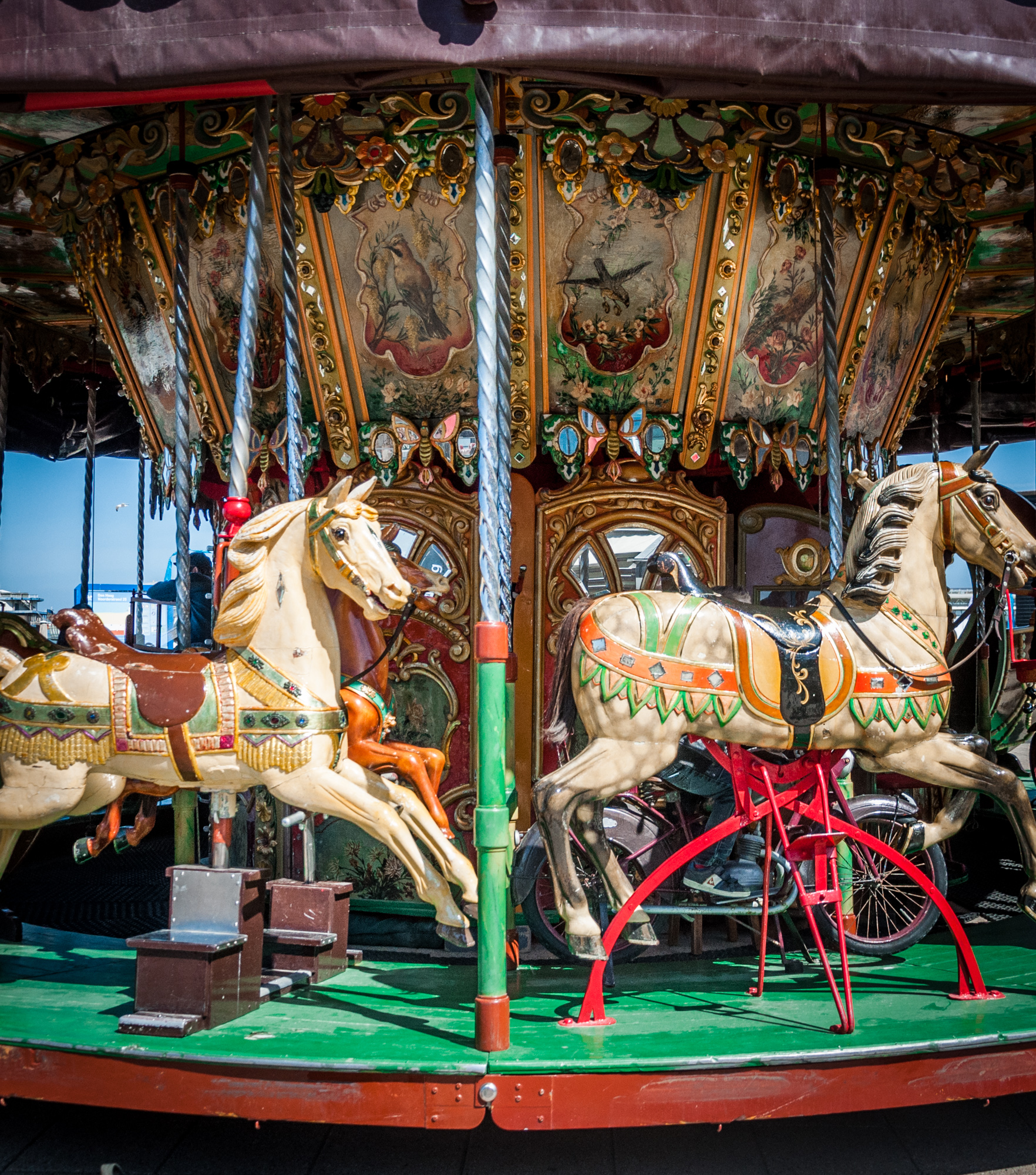 Old carousel, Amusement, Outside, Paris, Park, HQ Photo