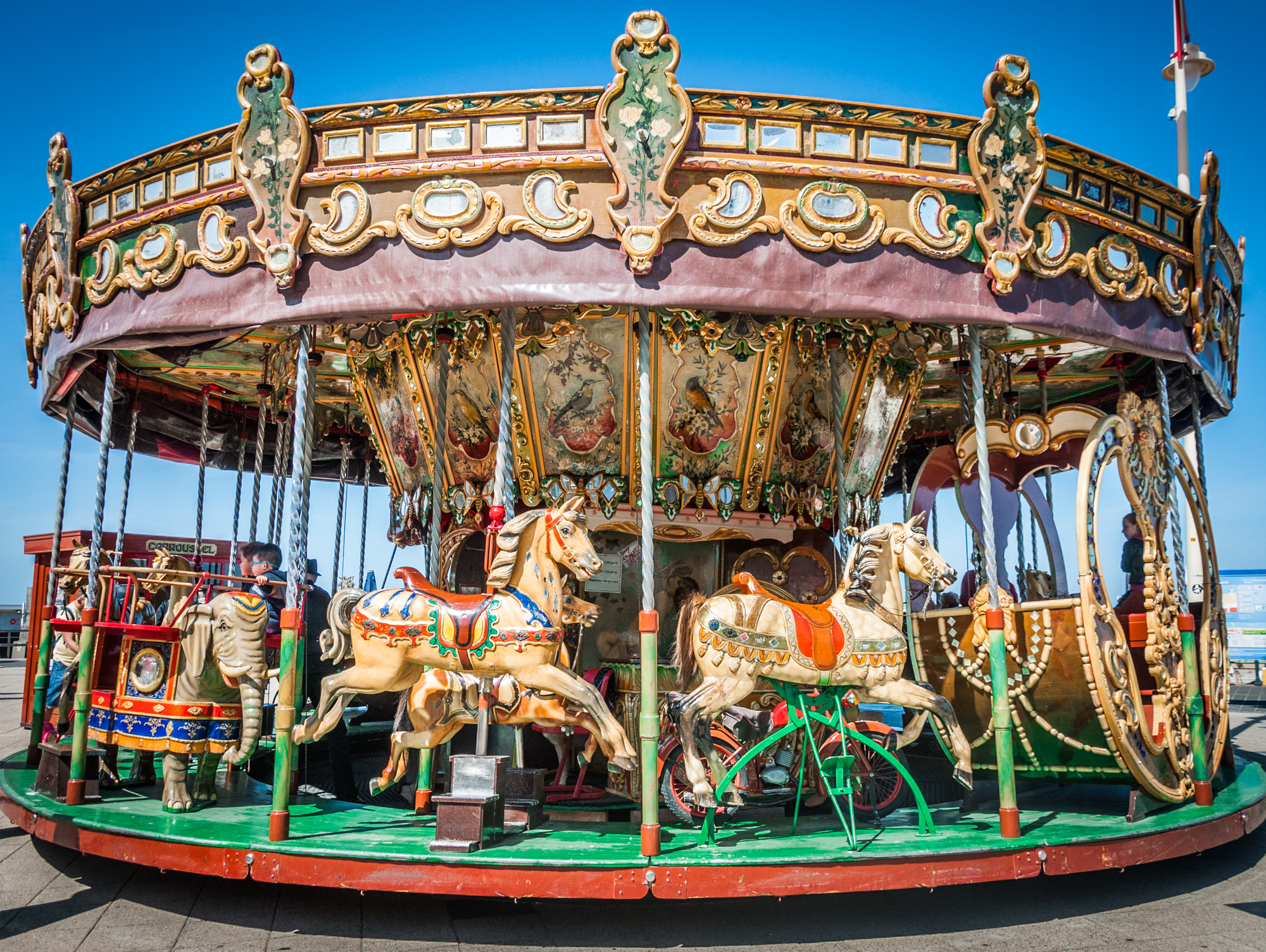 Old carousel, Amusement, Outside, Paris, Park, HQ Photo