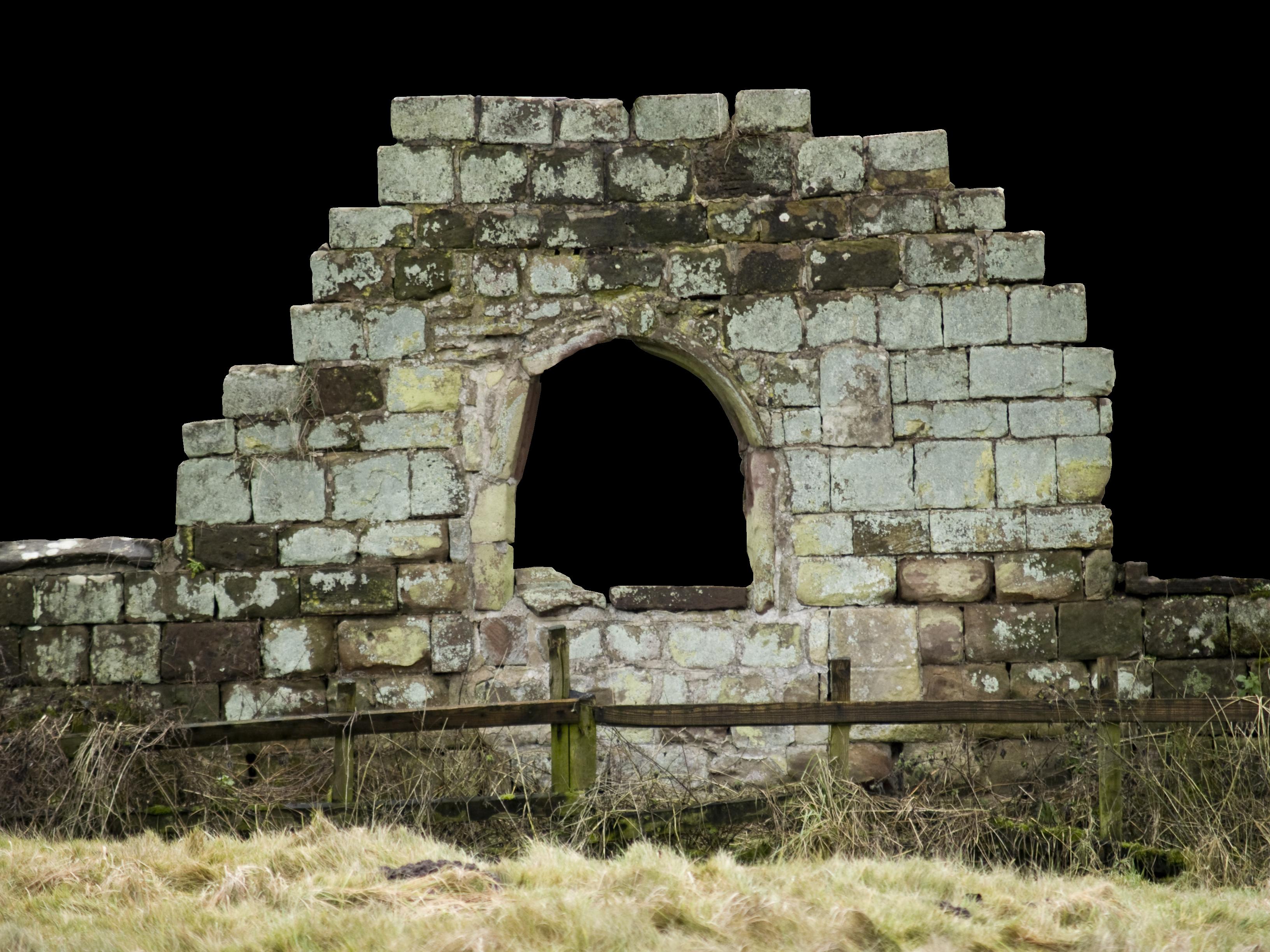 Old castle wall window photo