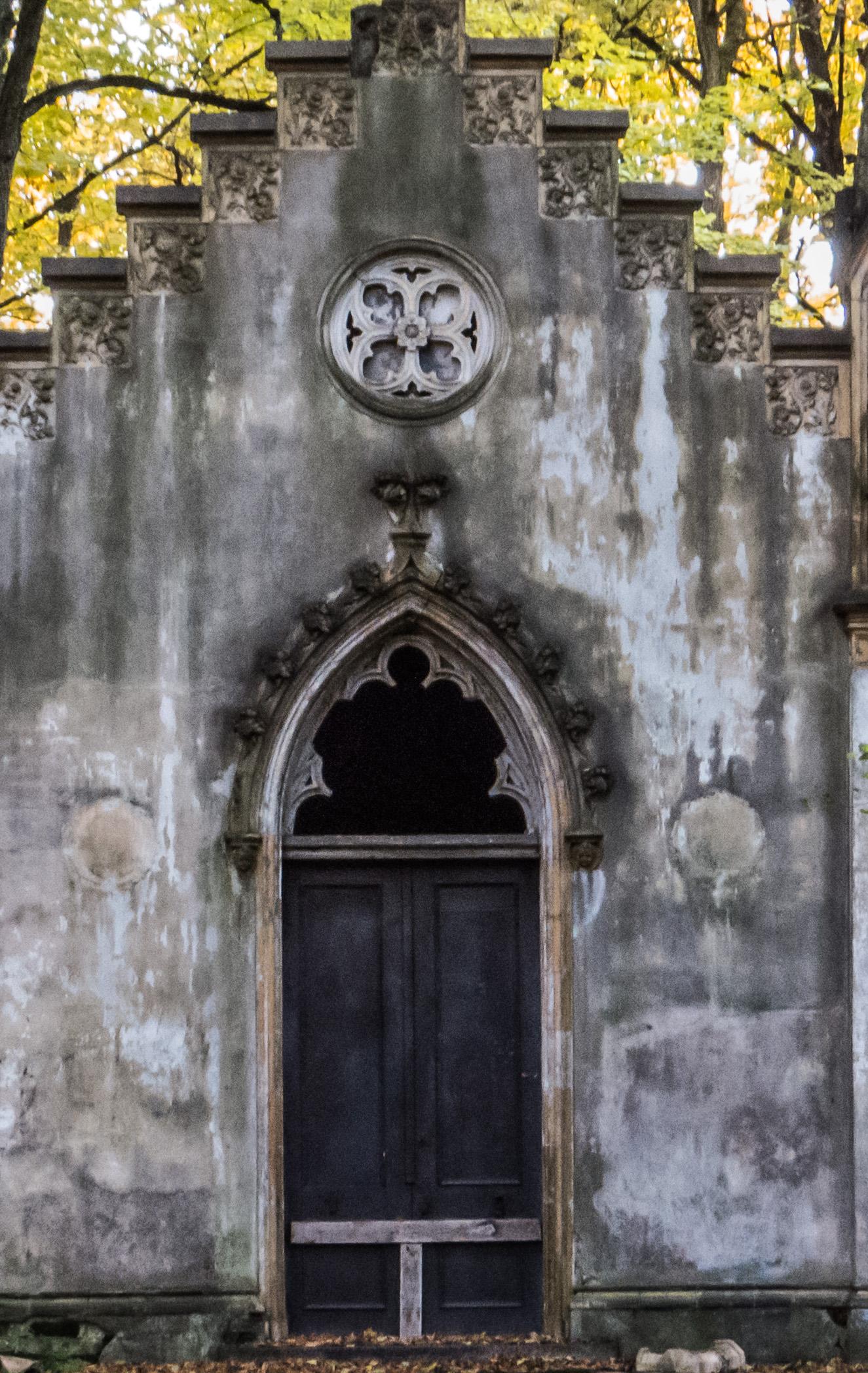 Old cemetery doors photo