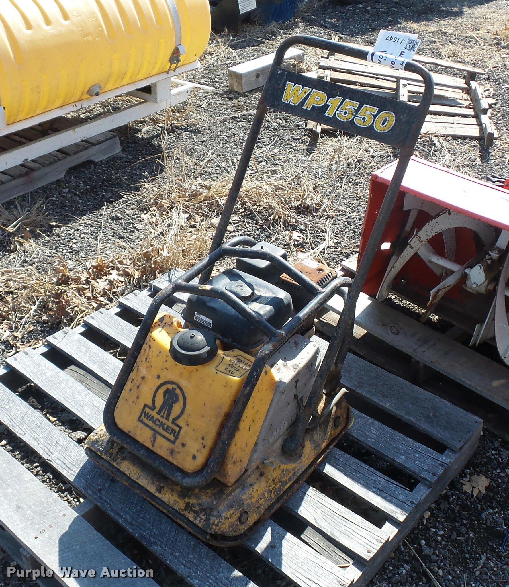 Wacker WP1550 plate compactor | Item J1547 | SOLD! April 12 ...