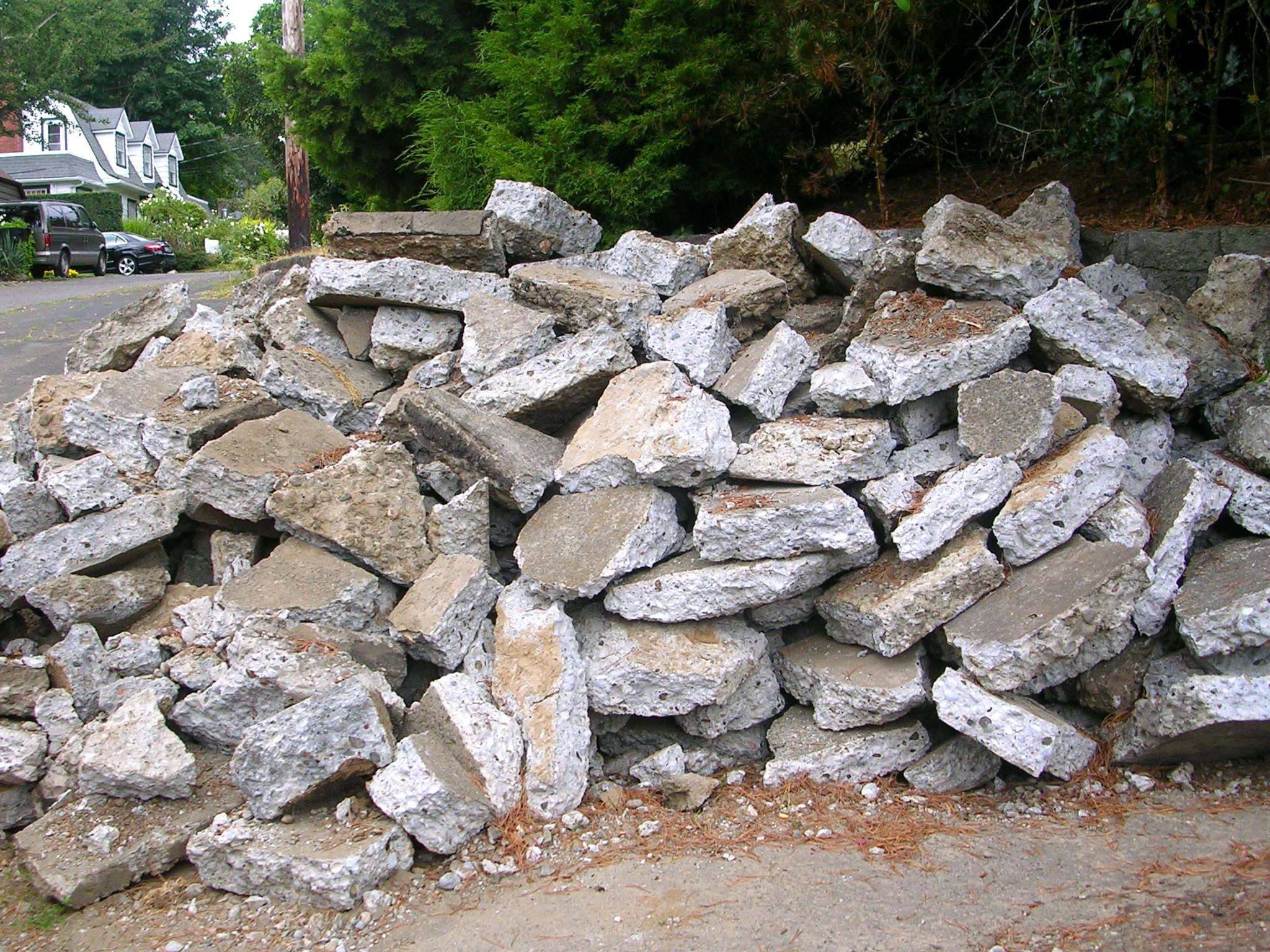Old concrete block photo