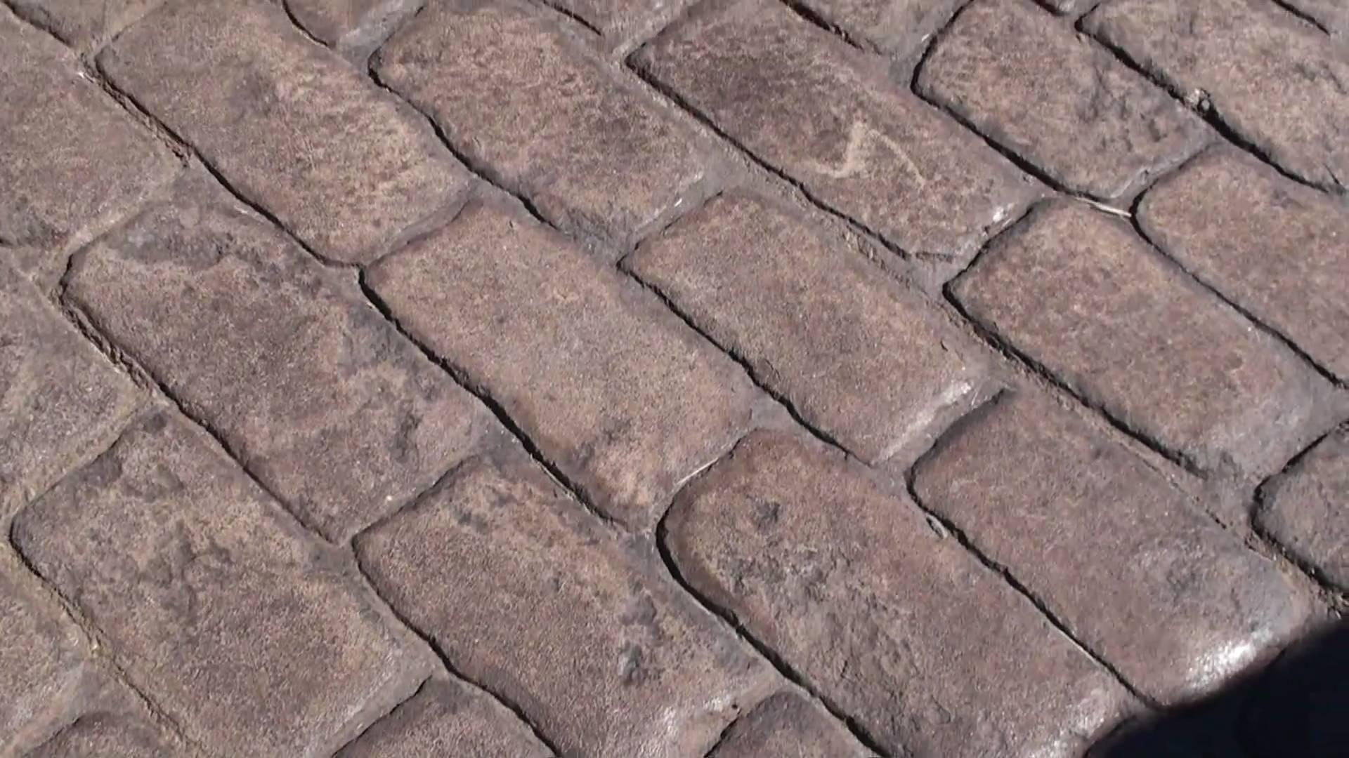 Stamped Concrete Pattern Old World Belgium Block - YouTube