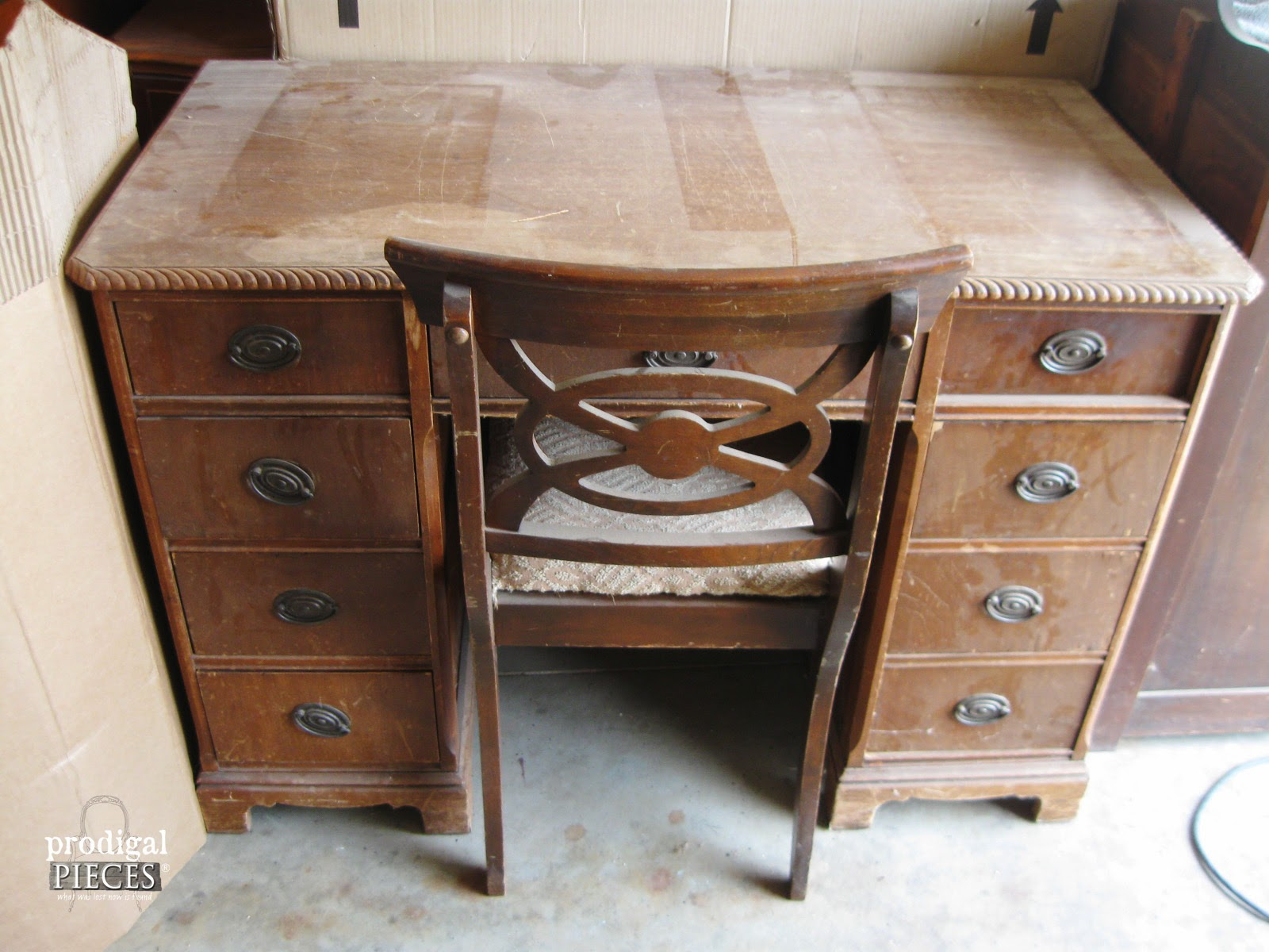 Popular Old Desk For Sale With An Antique Makeover Prodigal Pieces ...