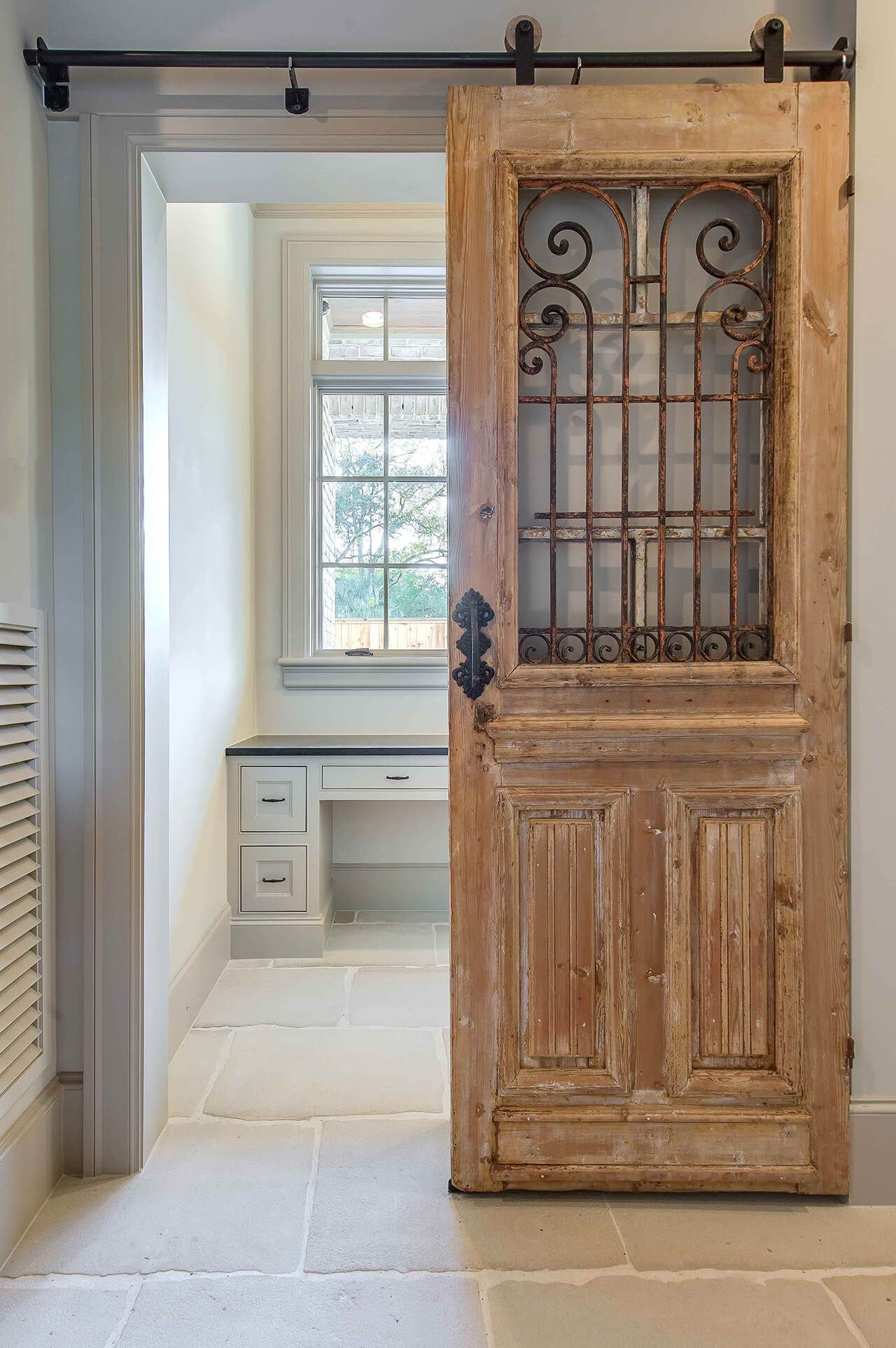 33 Artistic and Practical Repurposed Old Door Ideas | Wrought iron ...