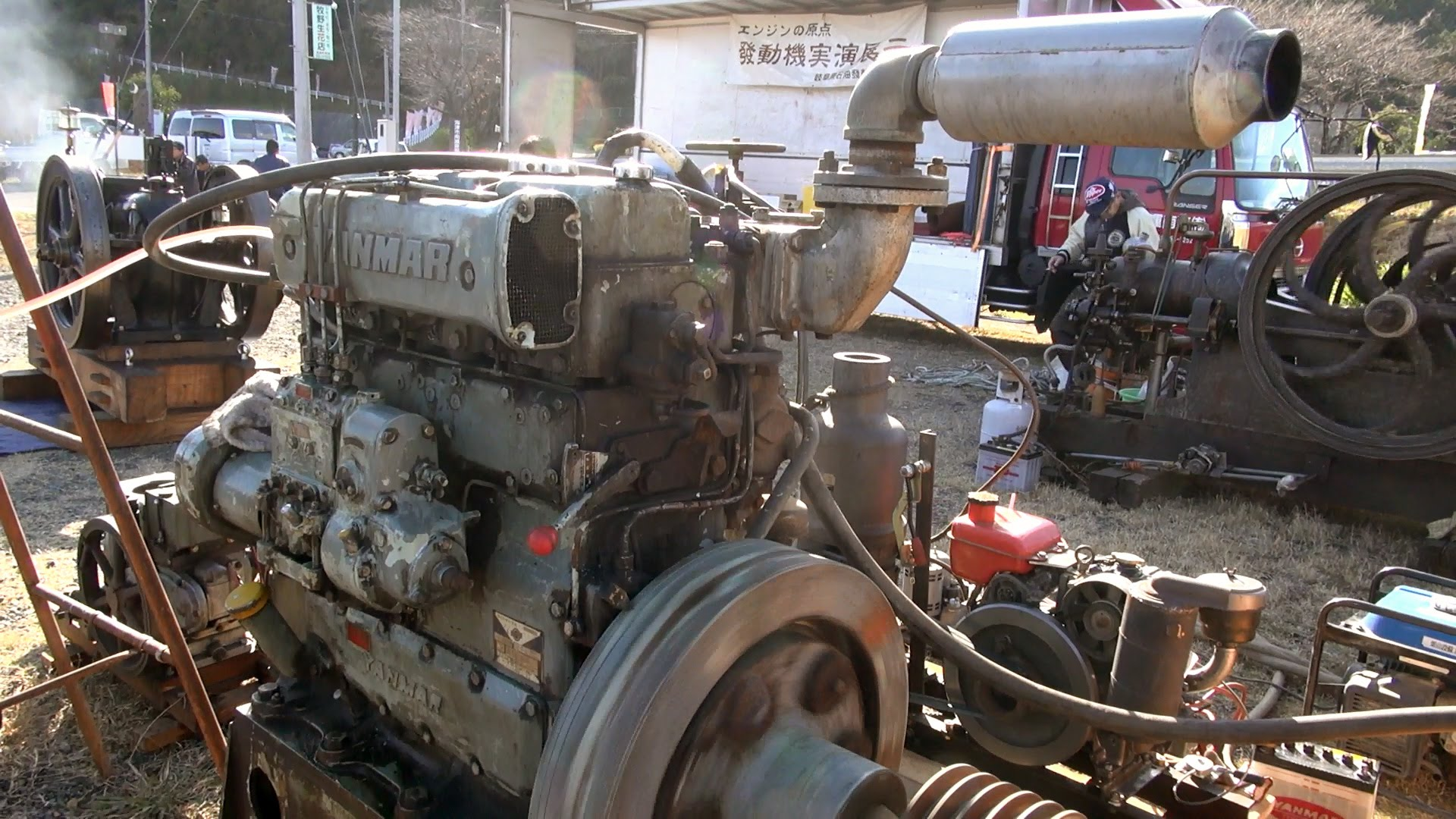 Old Engines in Japan 1970s? YANMAR Diesel Type 3KL 62hp - YouTube