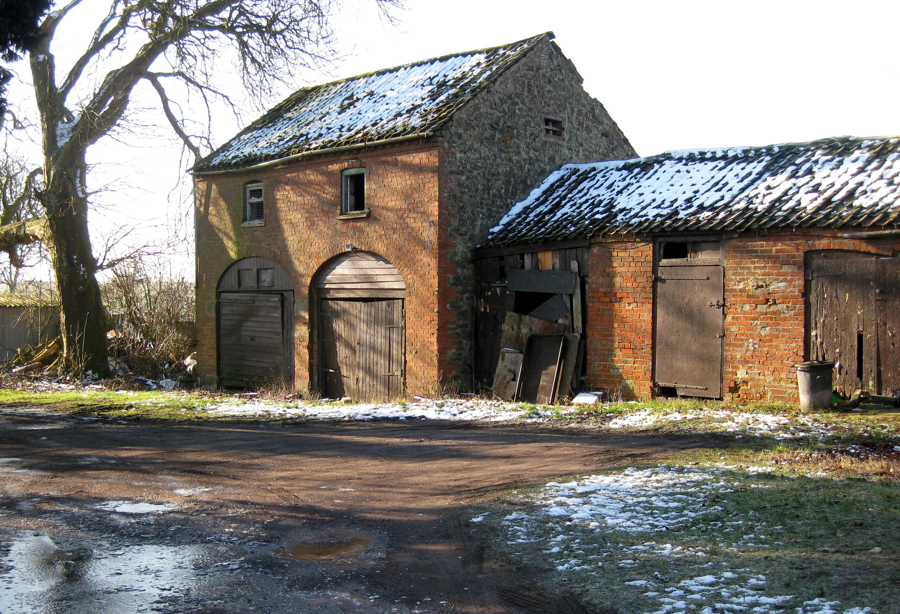 Old farm building photo