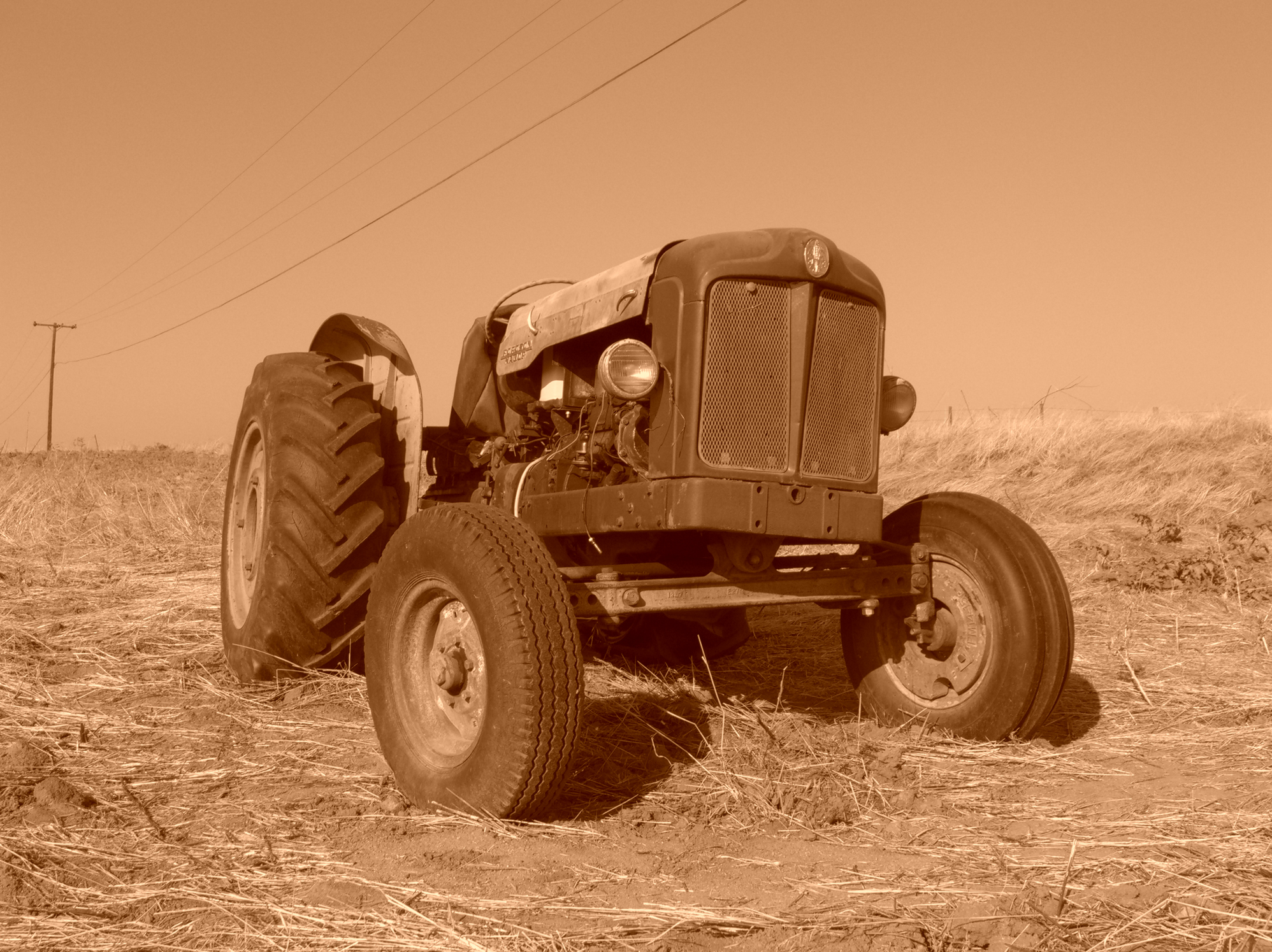 Old Fordson Laid to Rest, Motor, Plains, Tractor, Machine, HQ Photo