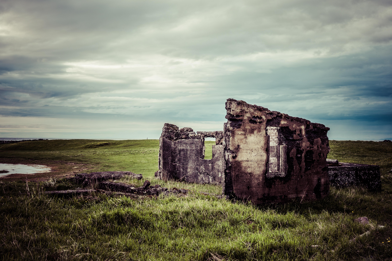 Old Icelandic Ruins, Abandoned, Building, Concrete, Damaged, HQ Photo