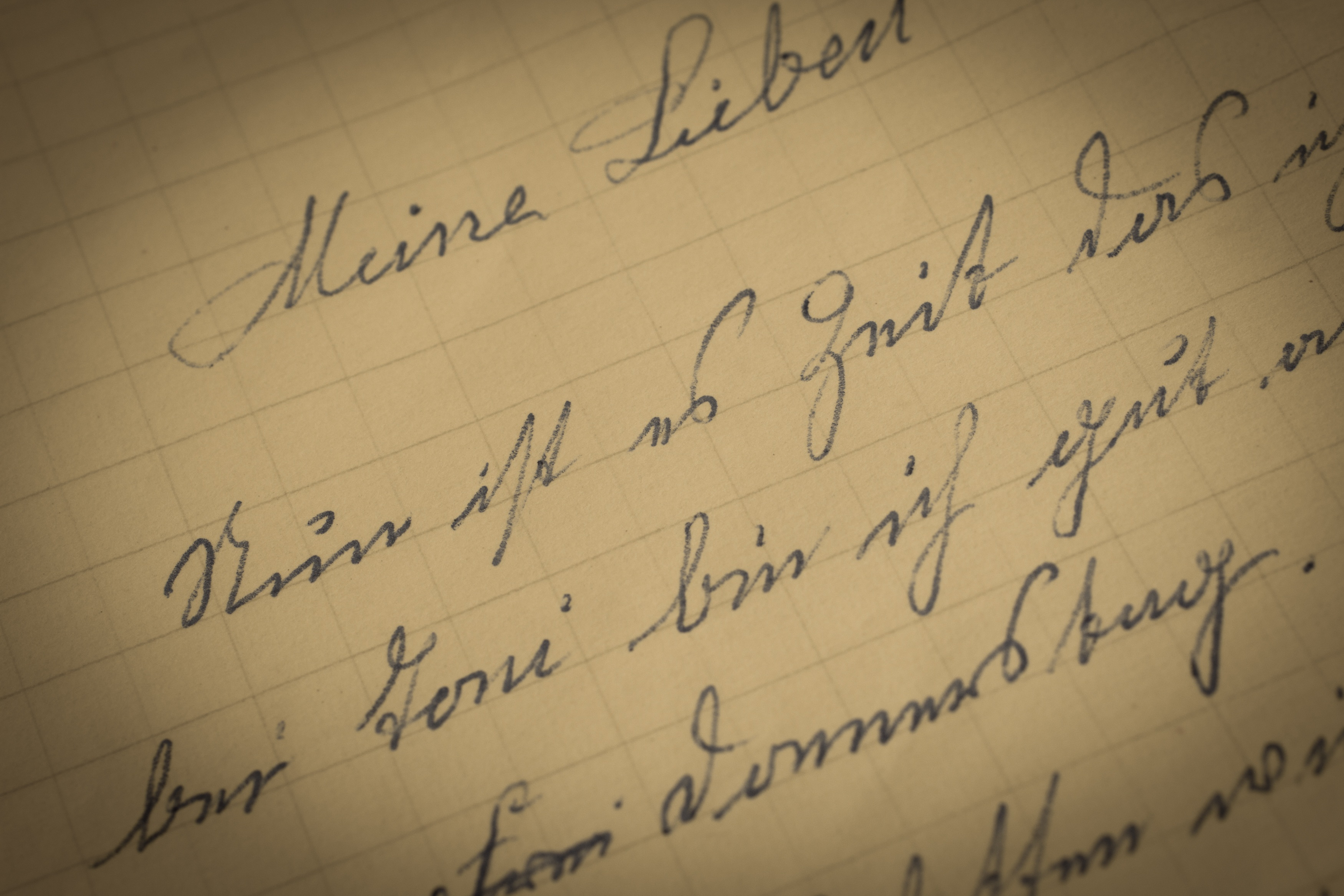 Old letter photo
