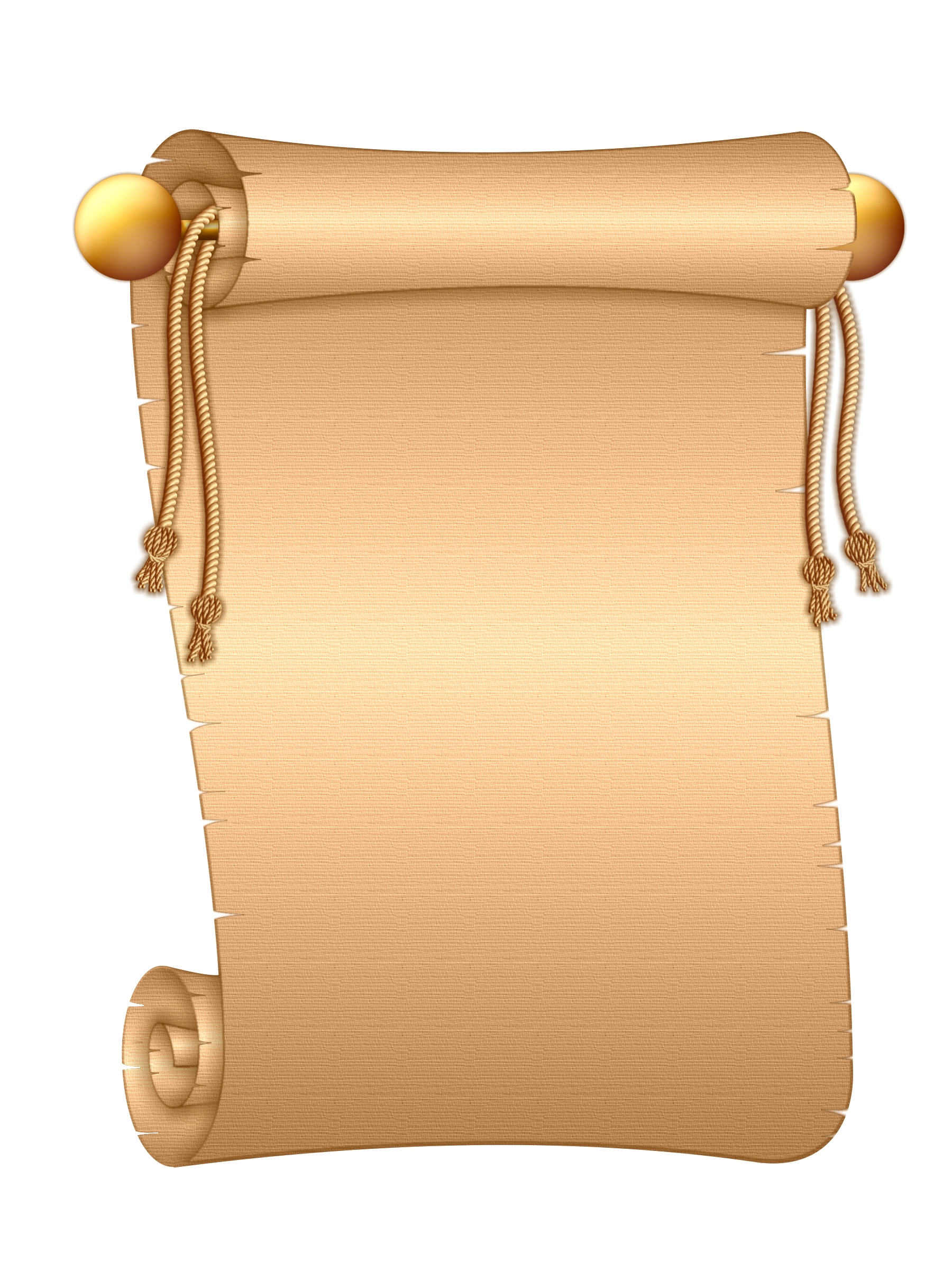 Ancient Letter Roll Clipart - ClipartXtras