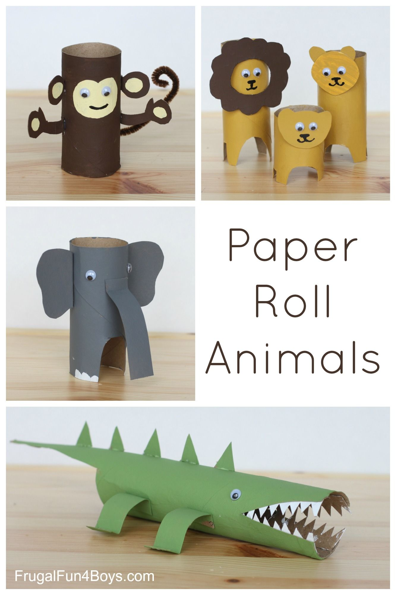 Paper Roll Animals | Paper towel rolls, Paper paper and Paper towels