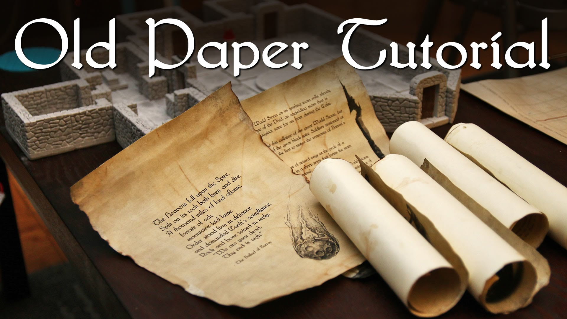 Old Paper Tutorial - YouTube