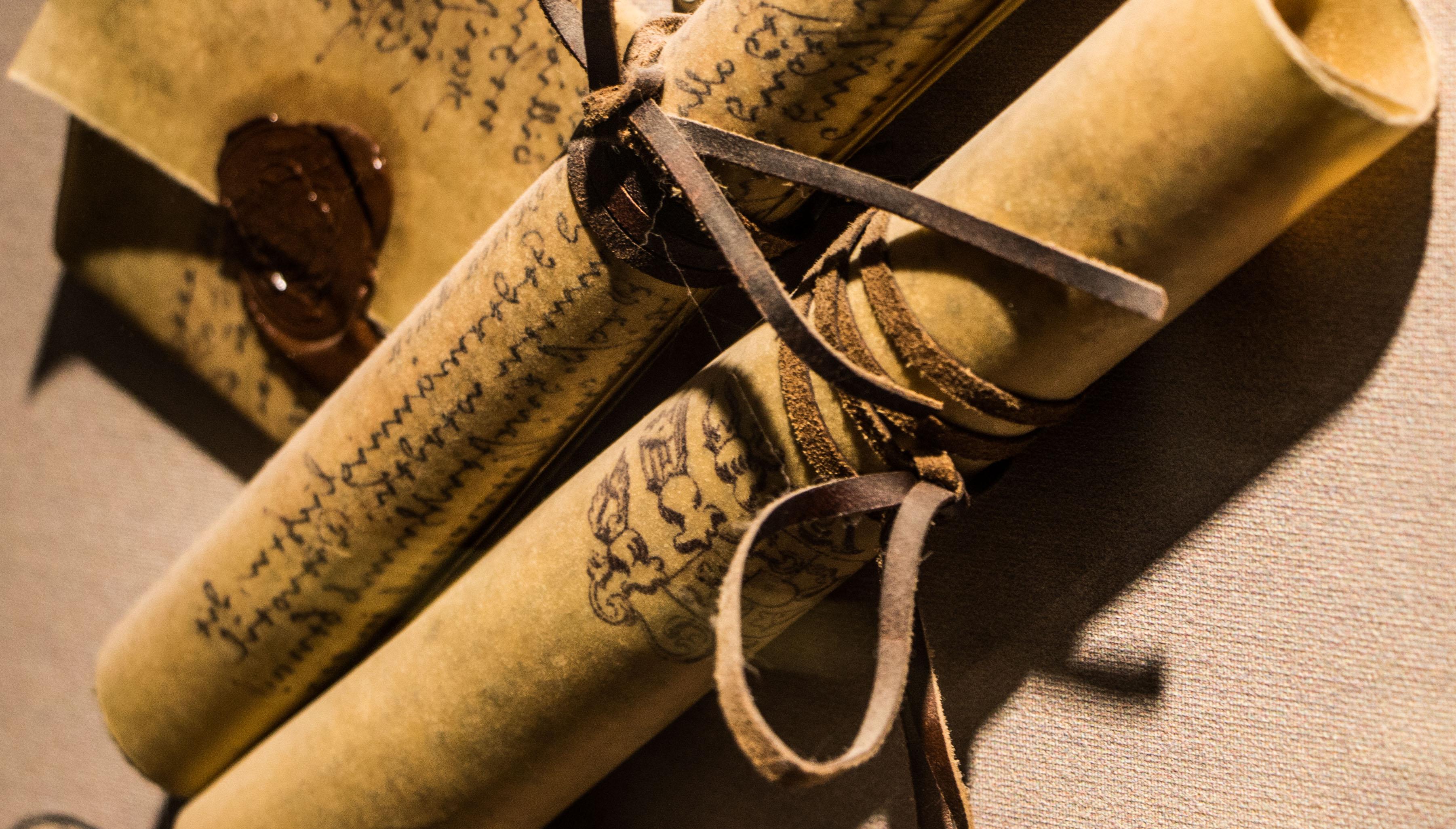 Old Letter Rolls, Parchment, Paper, Past, Receive, HQ Photo