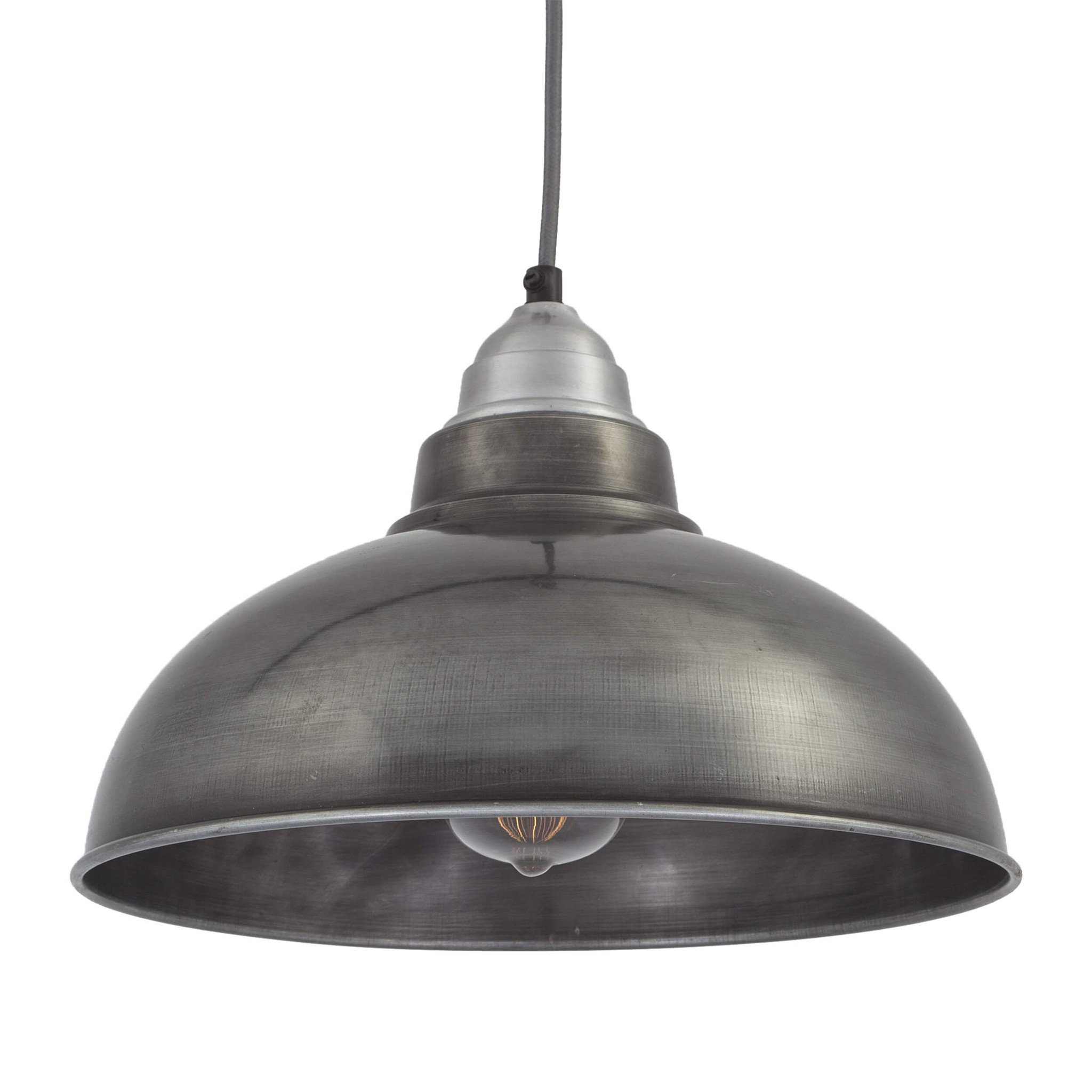 Industville Old Factory Vintage Pendant Light - Dark Pewter - 12 ...