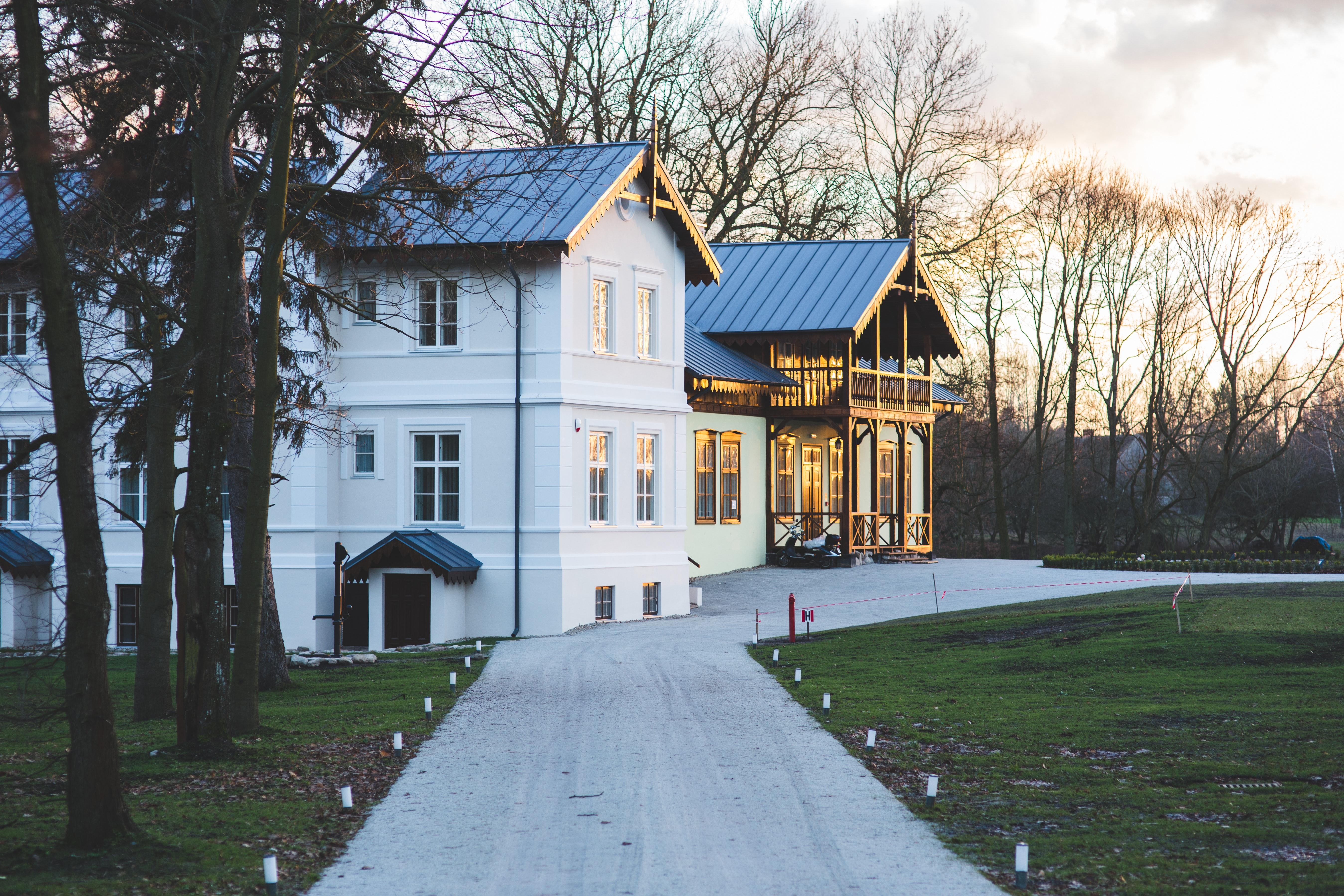 Old luxury villa exterior, Architecture, Plants, Wooden, Wood, HQ Photo