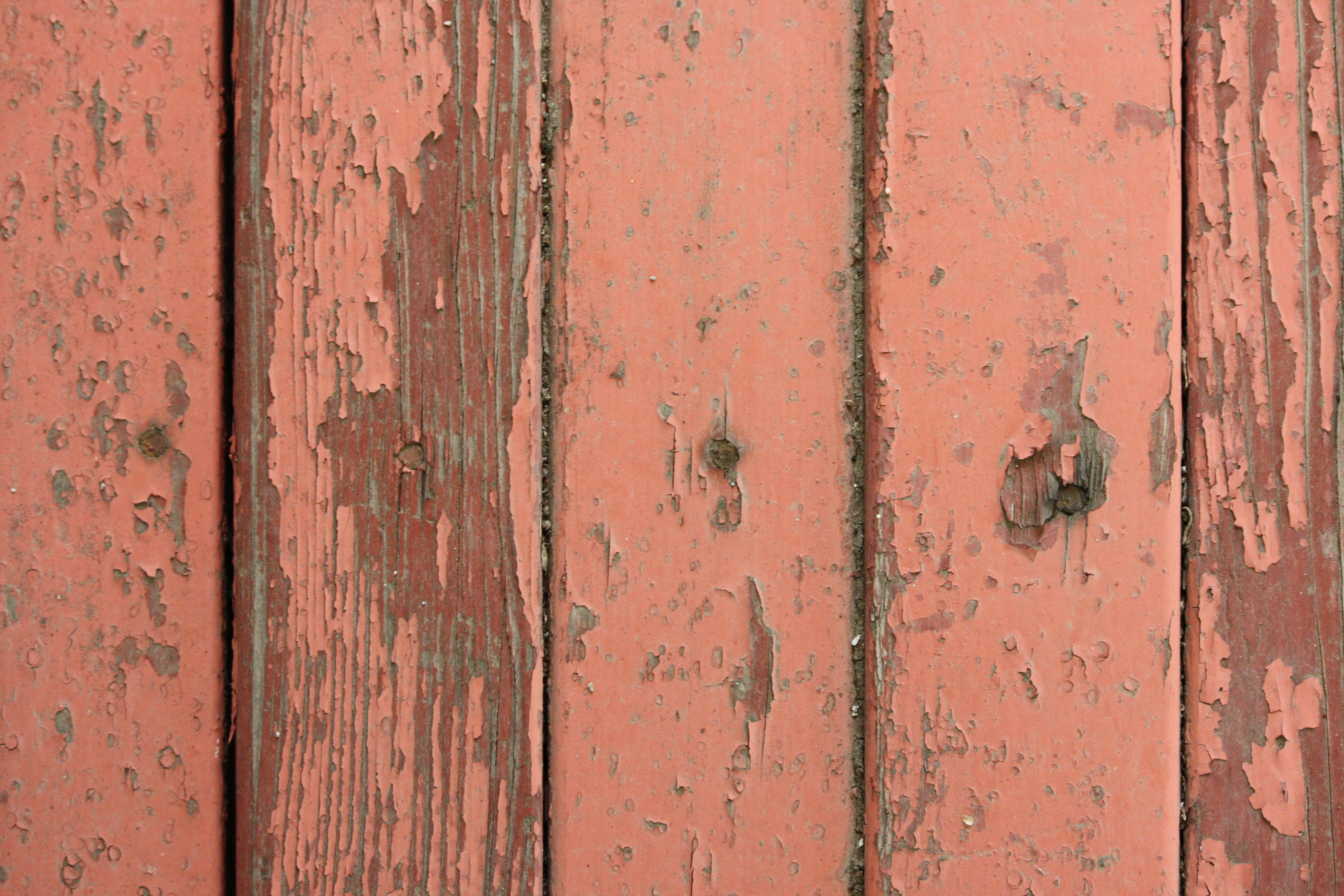 Peeling Red Paint on Old Wooden Boards Texture - Free High ...