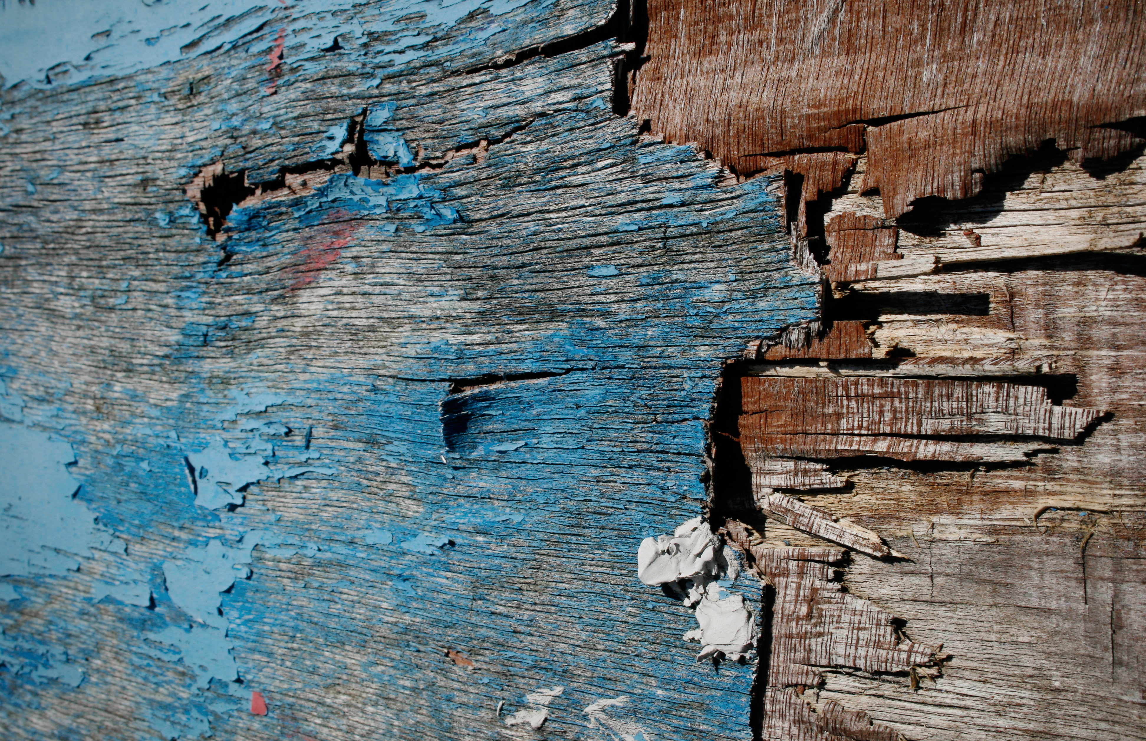 Old painted wood texture, Blue, Closeup, Old, Paint, HQ Photo