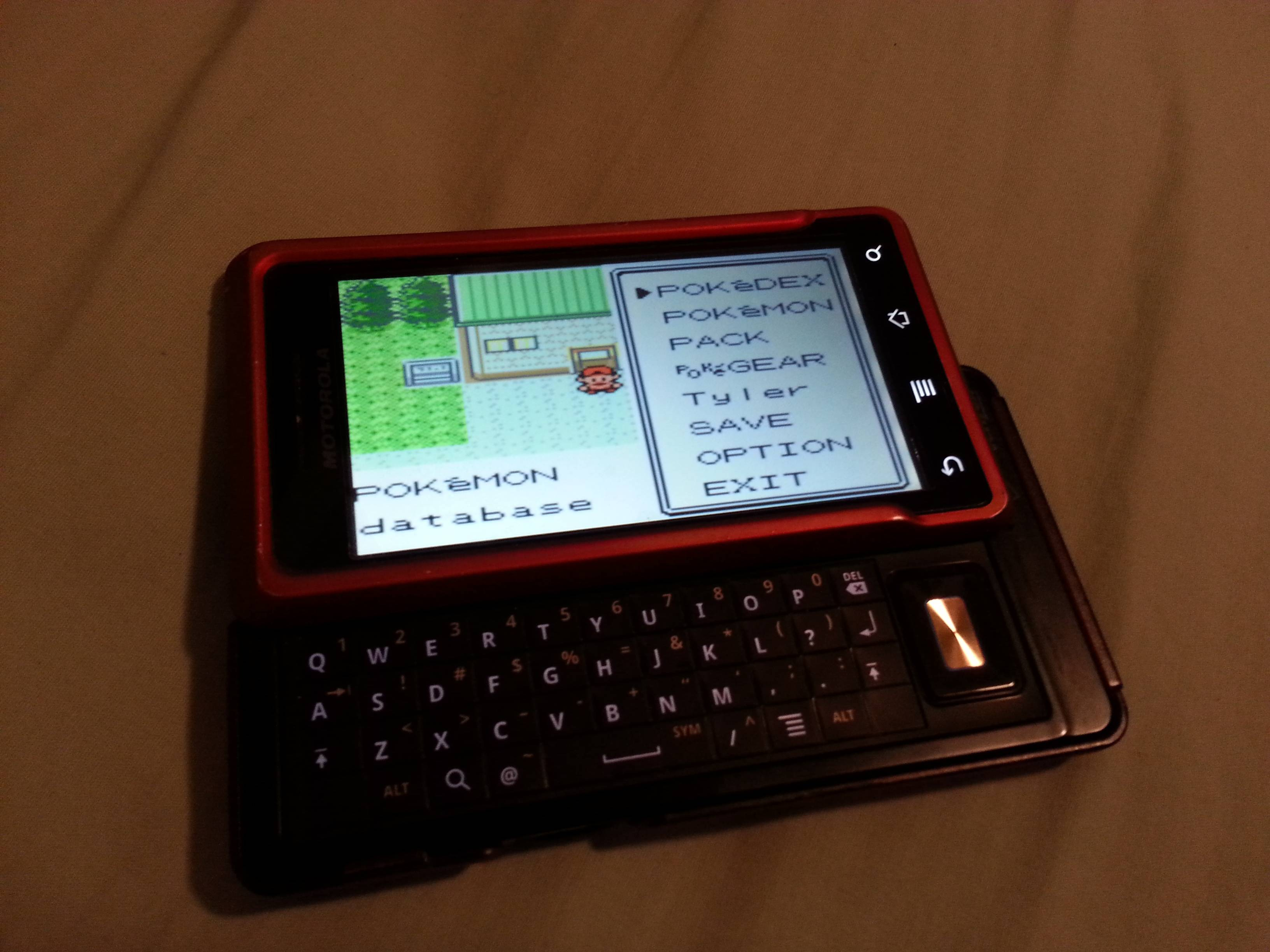 Perfect use for an old phone with a slider keyboard. : gaming