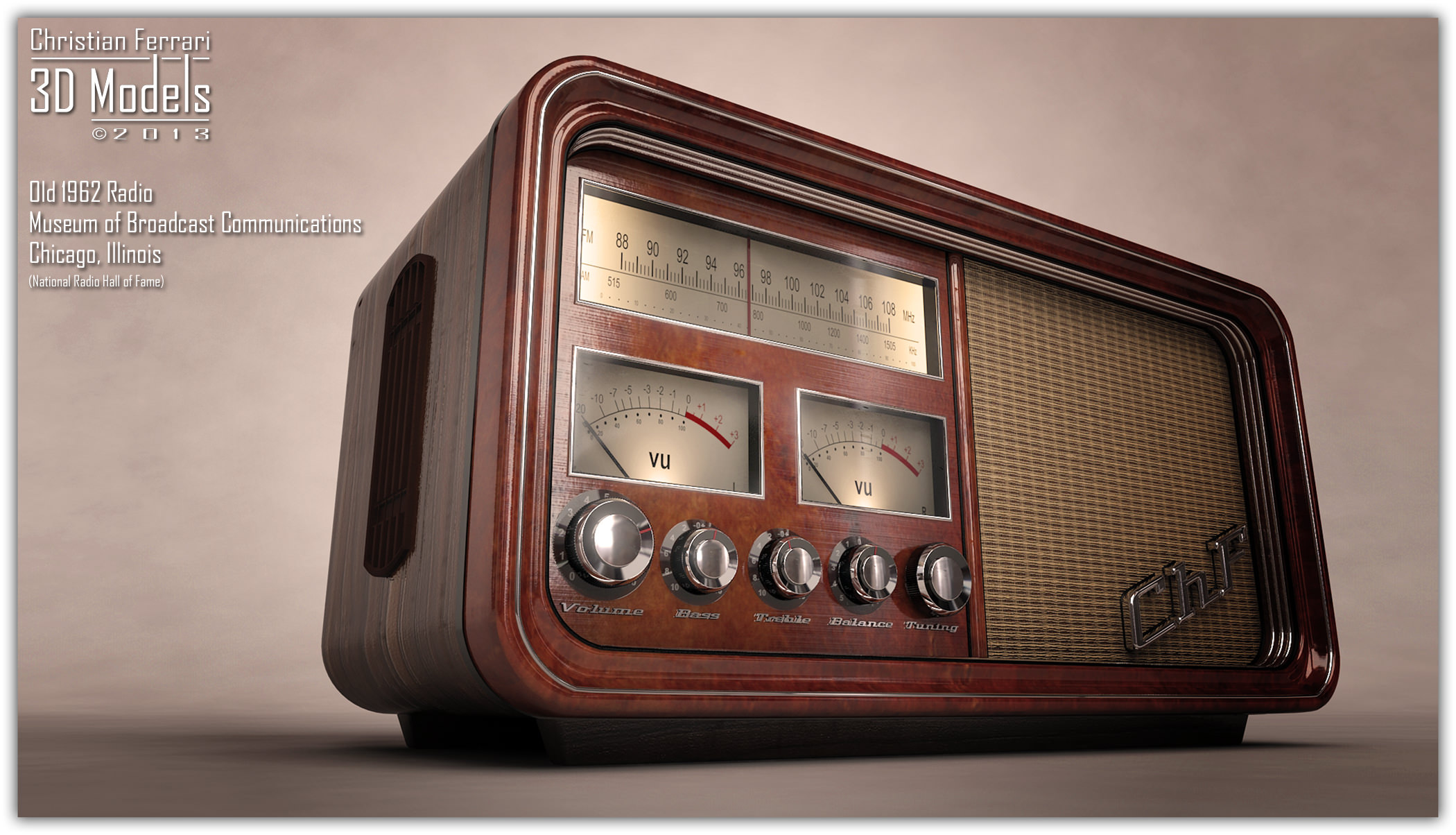 Old Time Radio 3D | CGTrader