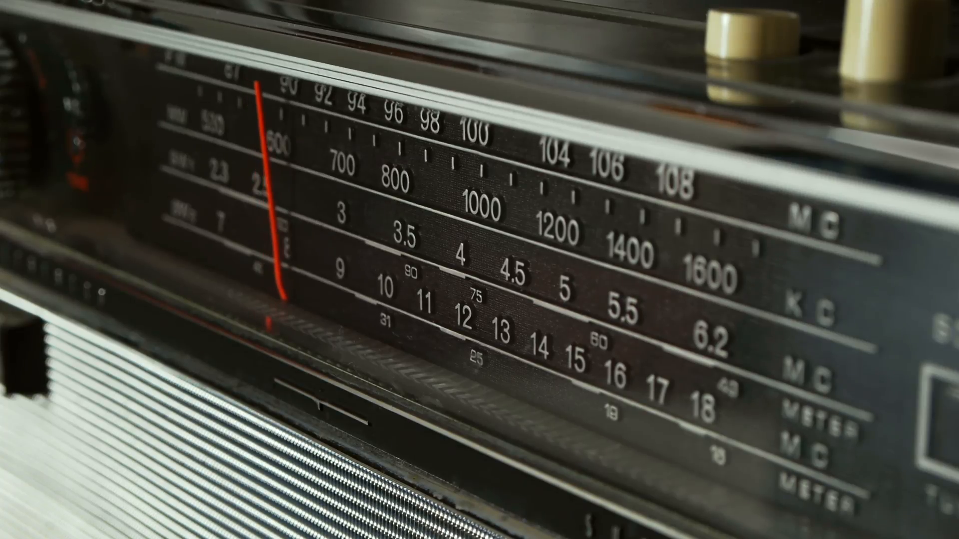 Old Radio Dial Being Tuned Stock Video Footage - Videoblocks