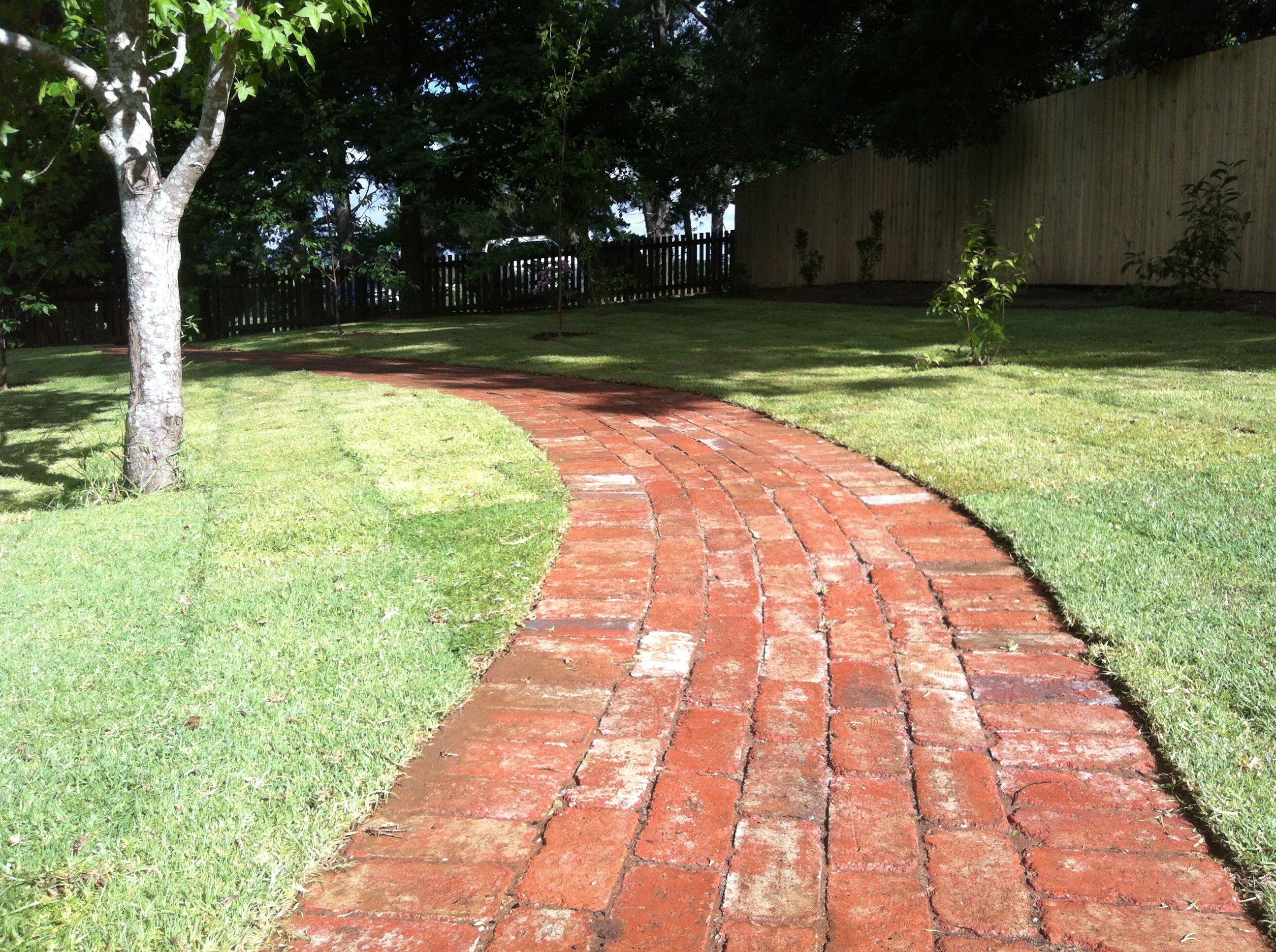Up cycled Old red brick pavers. | DG // Completed Projects ...
