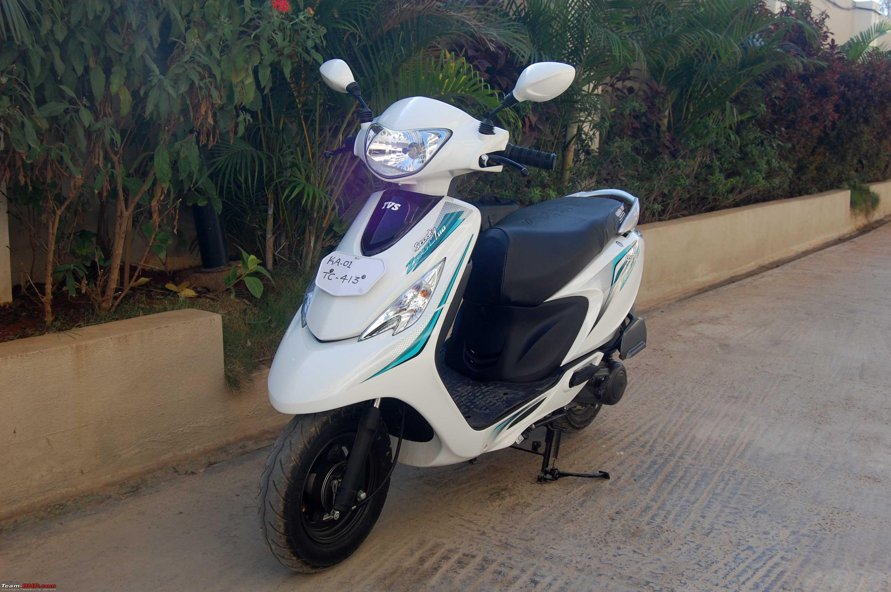 TVS Scooty Zest - The story of our White Swan - Team-BHP