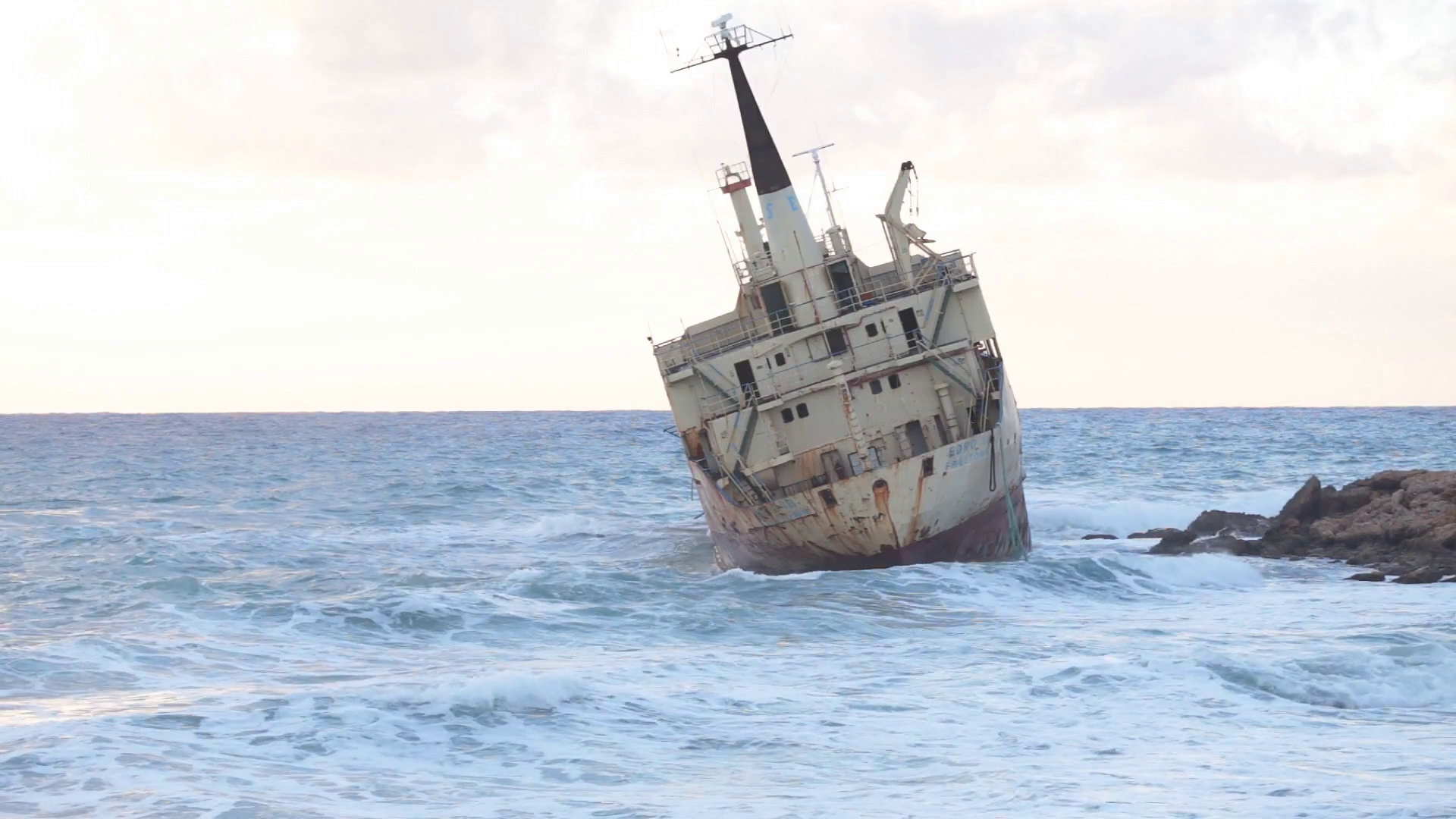 An old shipwreck or abandoned shipwreck Stock Video Footage ...