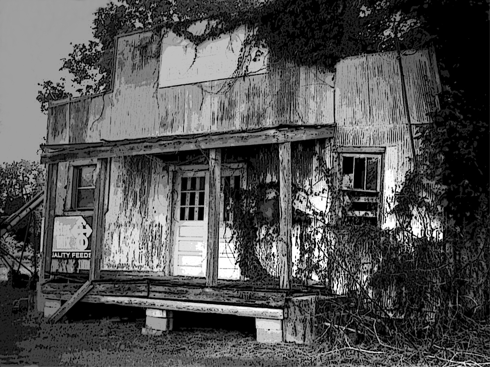 Old store front in doniphan, missouri photo