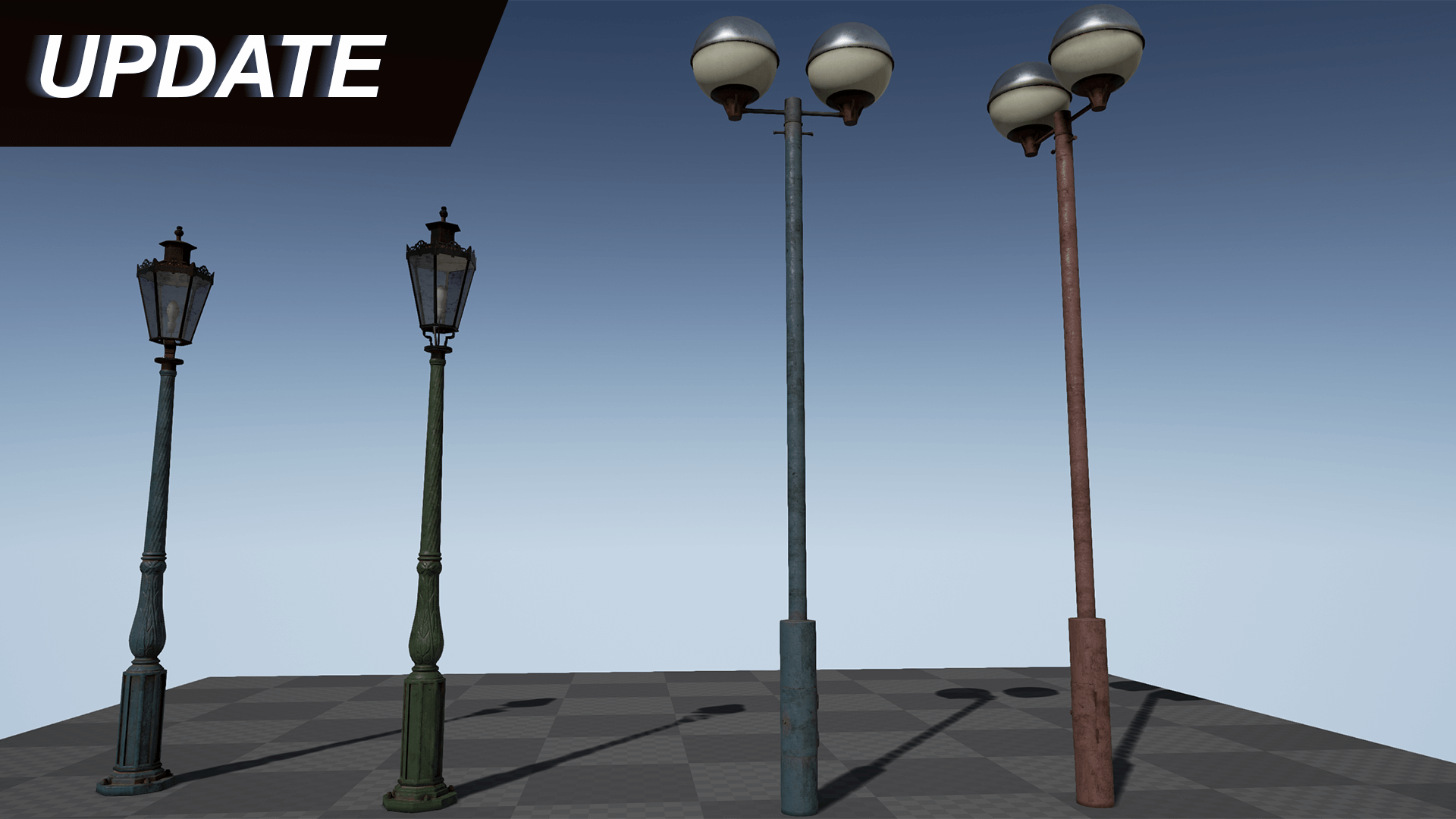 Old Streetlights Pack by Sipi1989 in Props - UE4 Marketplace