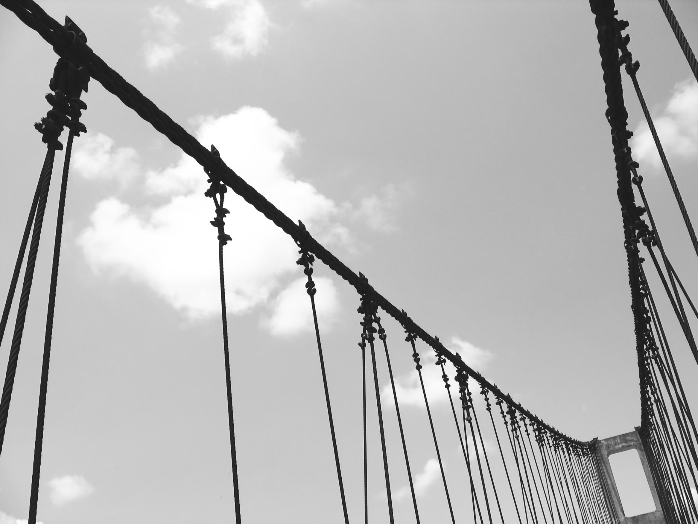 Old Suspension Bridge, Balance, Bolts, Vintage, Unstable, HQ Photo