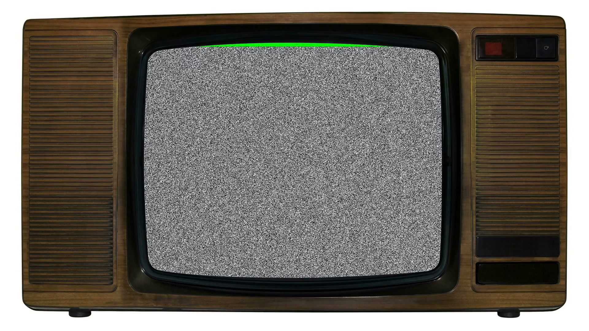 Noise on old television with green chroma banner Motion Background ...