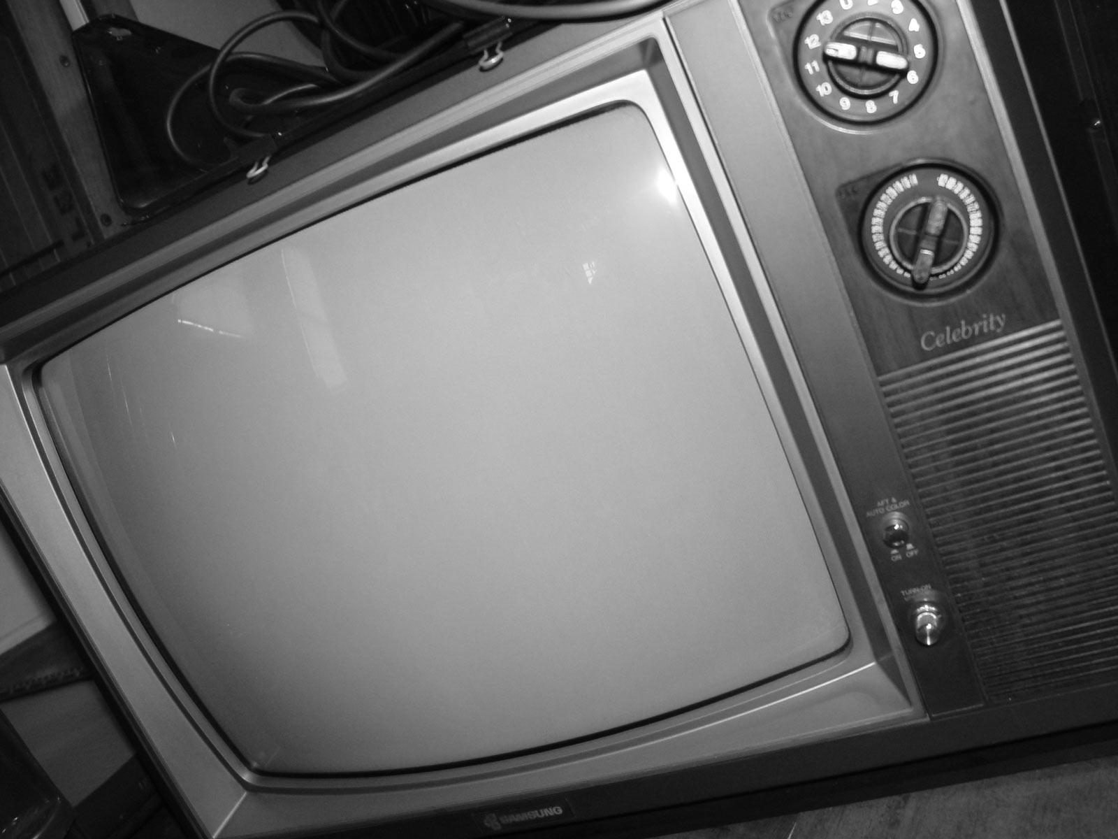 Old Television, Blackandwhite, Electronics, Monitor, Television, HQ Photo
