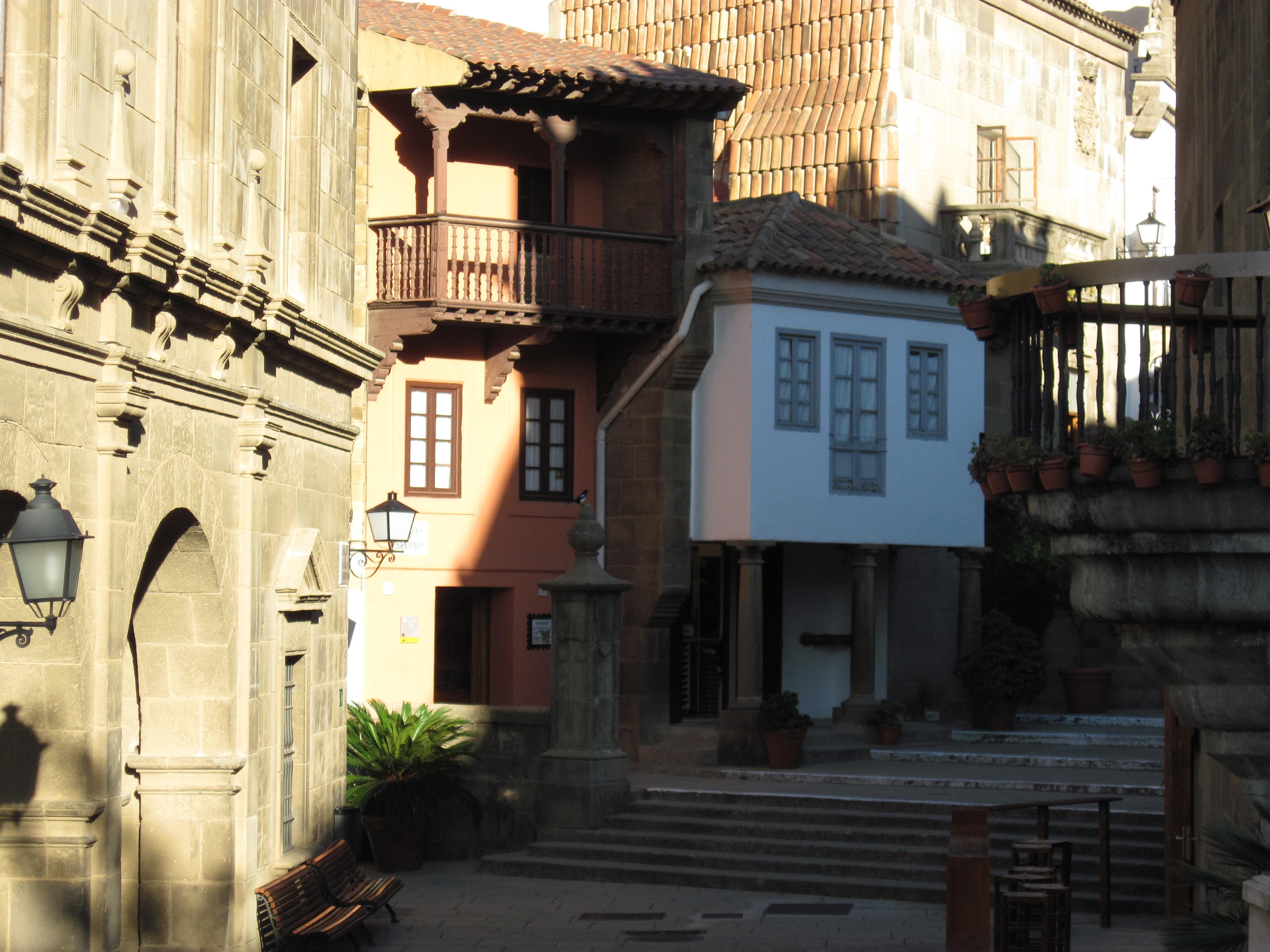 Old traditional buildings in barcelona photo