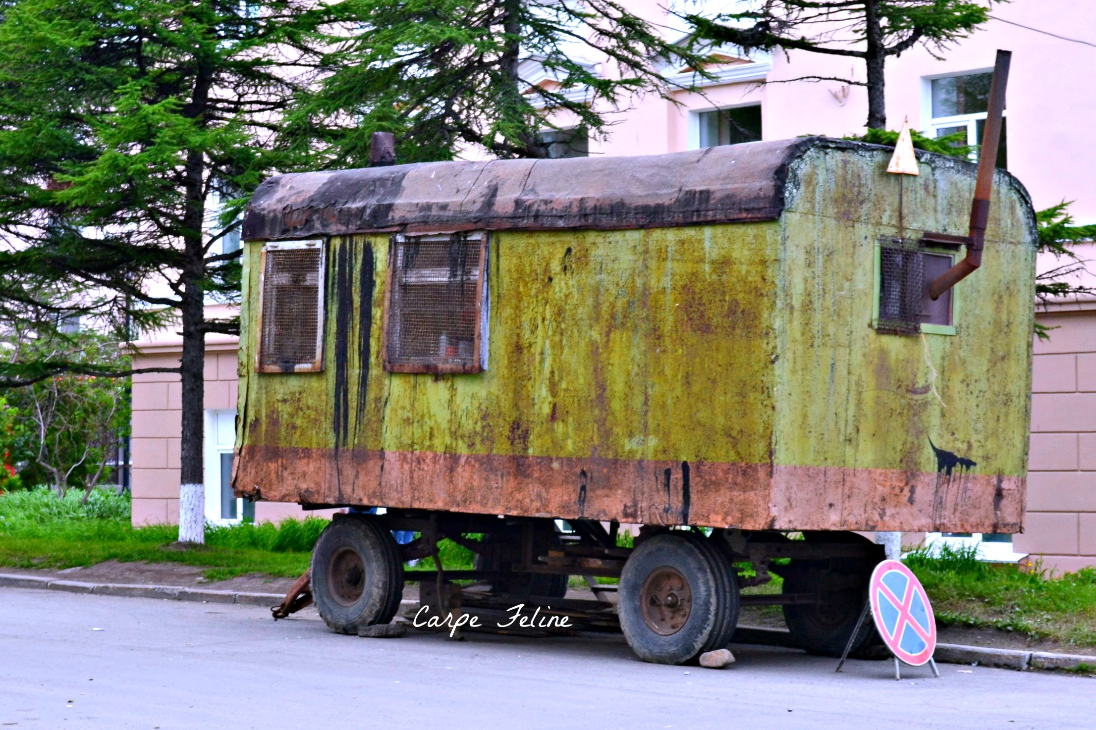 old trailer in magadan   Gulags & Abandoned Cities & Diving