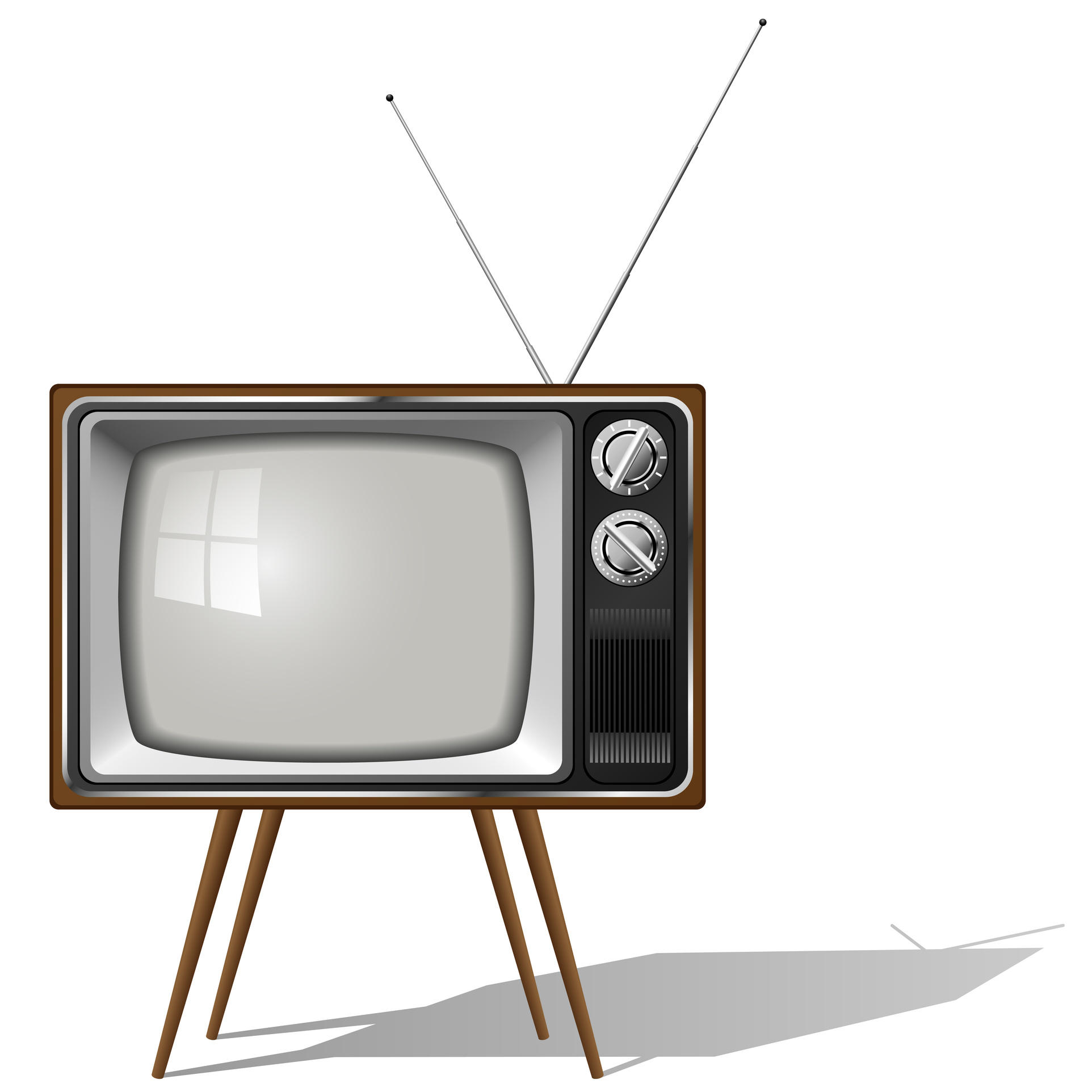 Old-fashioned four legged TV set isolated - Narrative Approaches