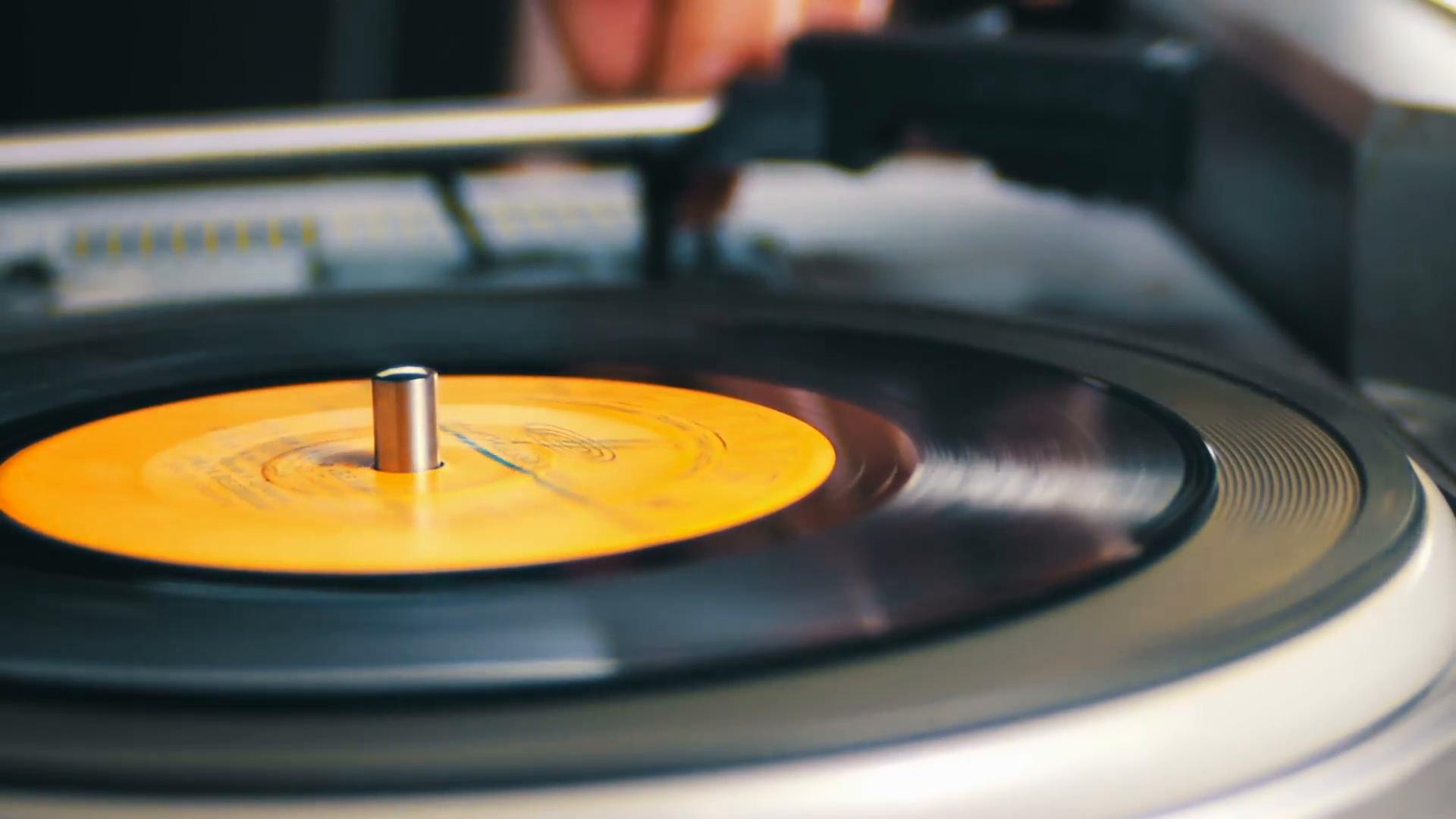 Old Vinyl Record Spinning Stock Video Footage - Videoblocks