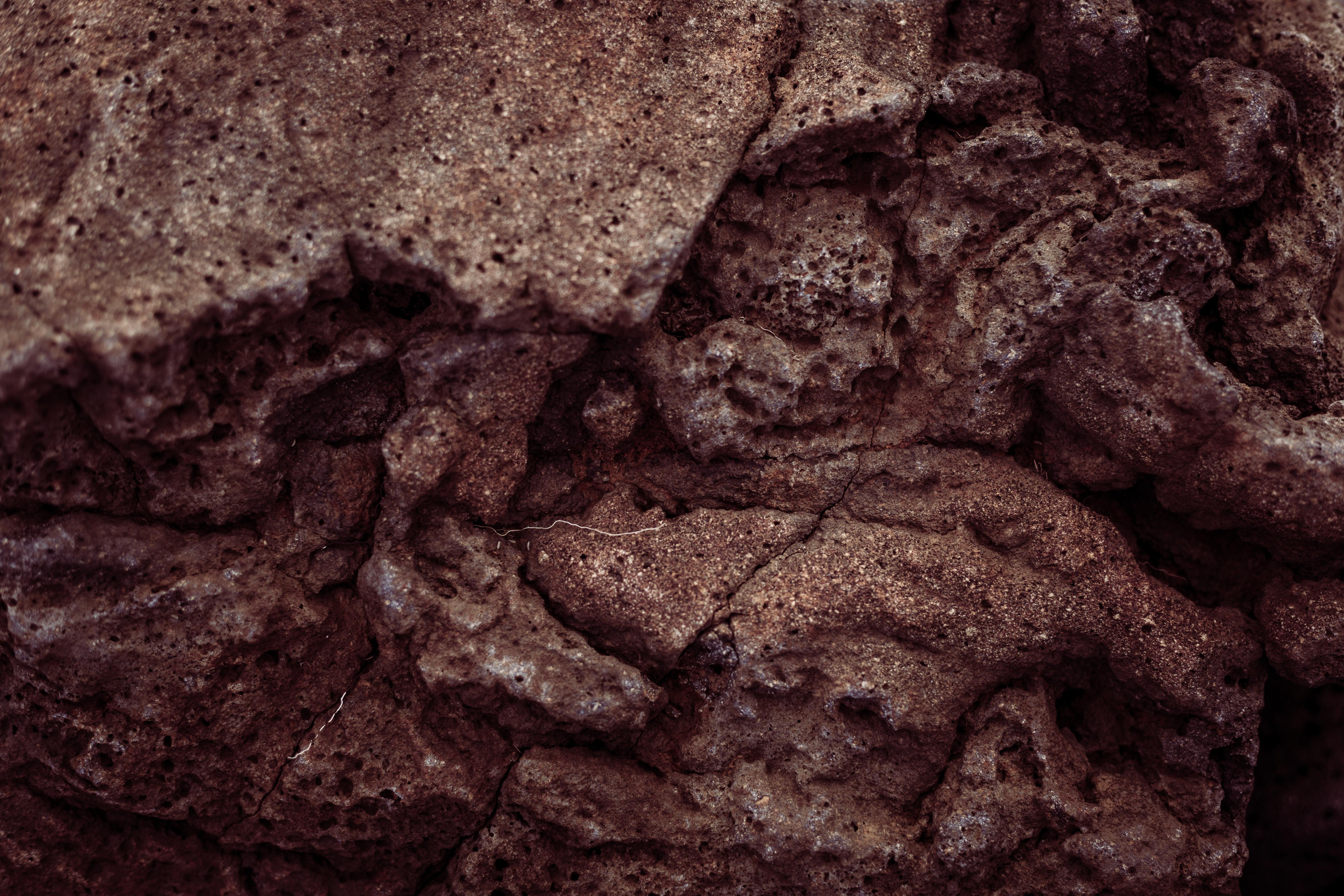 Old Volcanic Rock Texture, Details, Grunge, Holes, Icelandic, HQ Photo