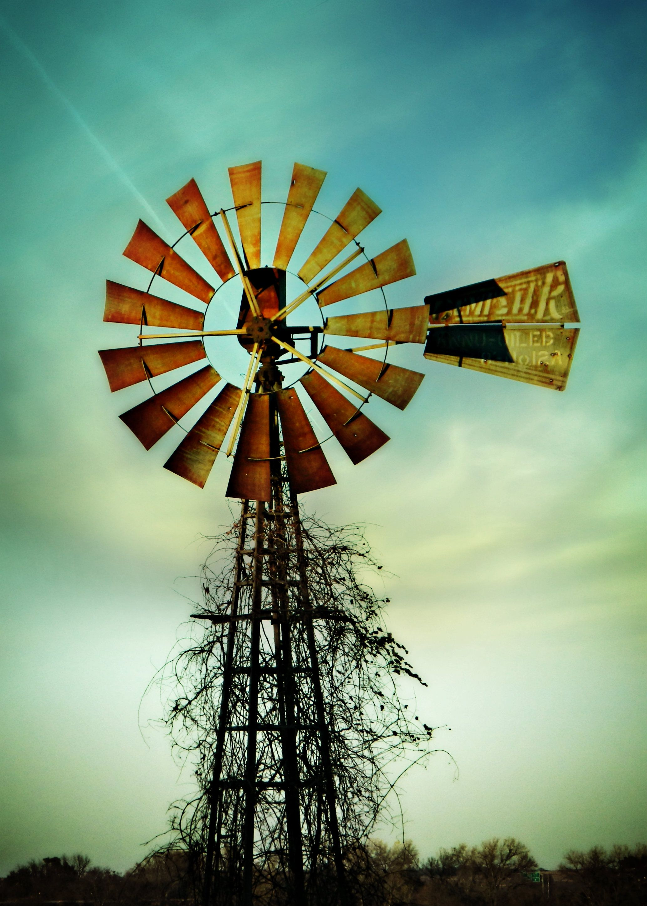 Old windmill w awesome colors all around. | Windmills | Pinterest ...