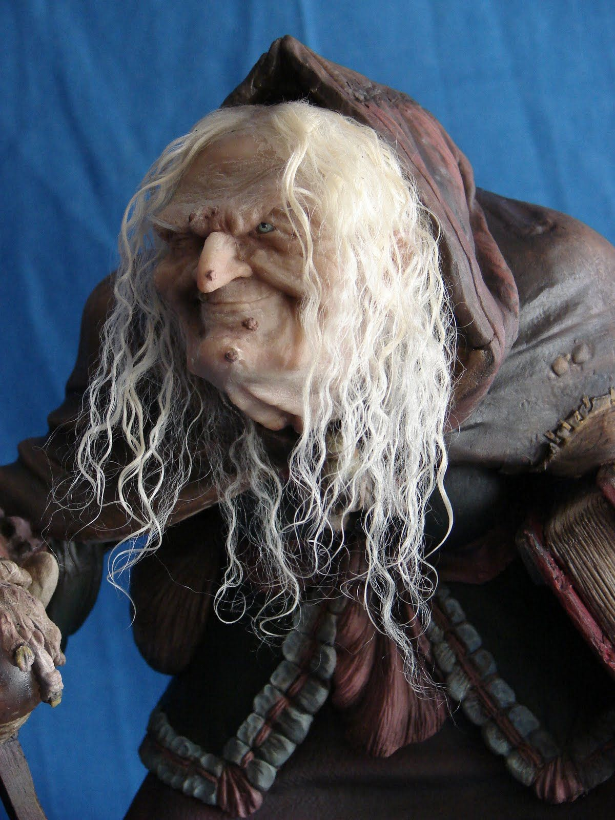 MAURO SANTINI SCULPTURES: Old witch, own creation, 1:4 scale ...