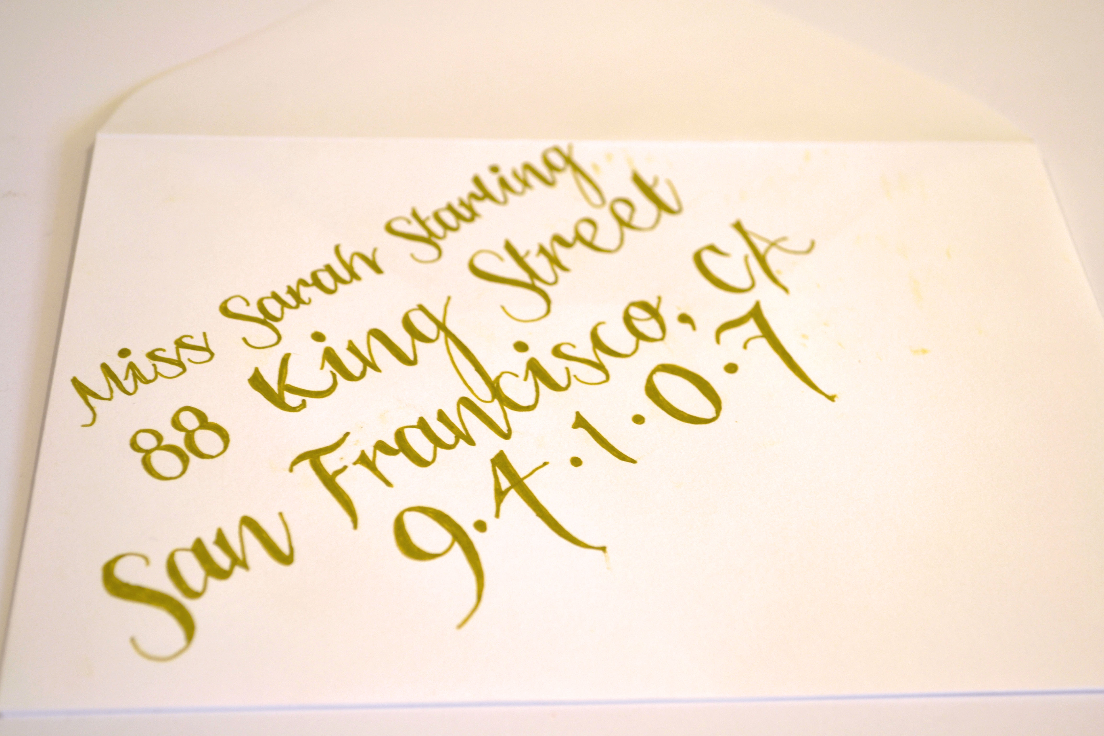 Easy DIY Calligraphy for Your Wedding Invitations - Miss Bizi Bee