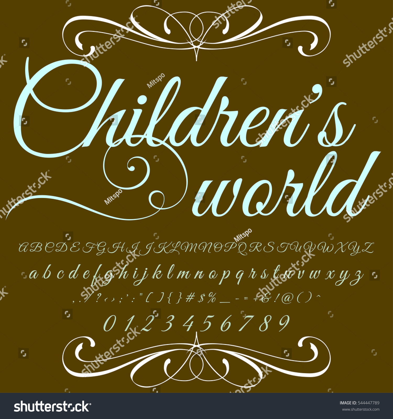 Childrens World Handcrafted Vector Script Alphabet Stock Vector ...