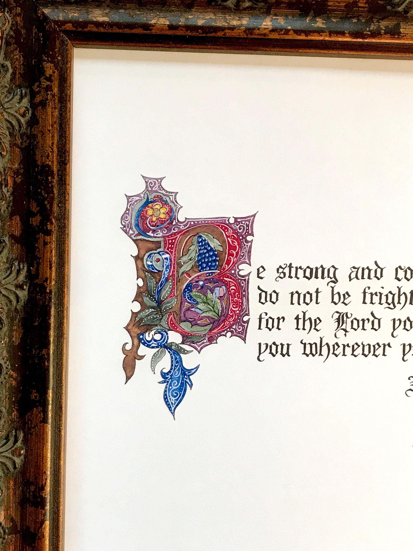 Old world calligraphy photo
