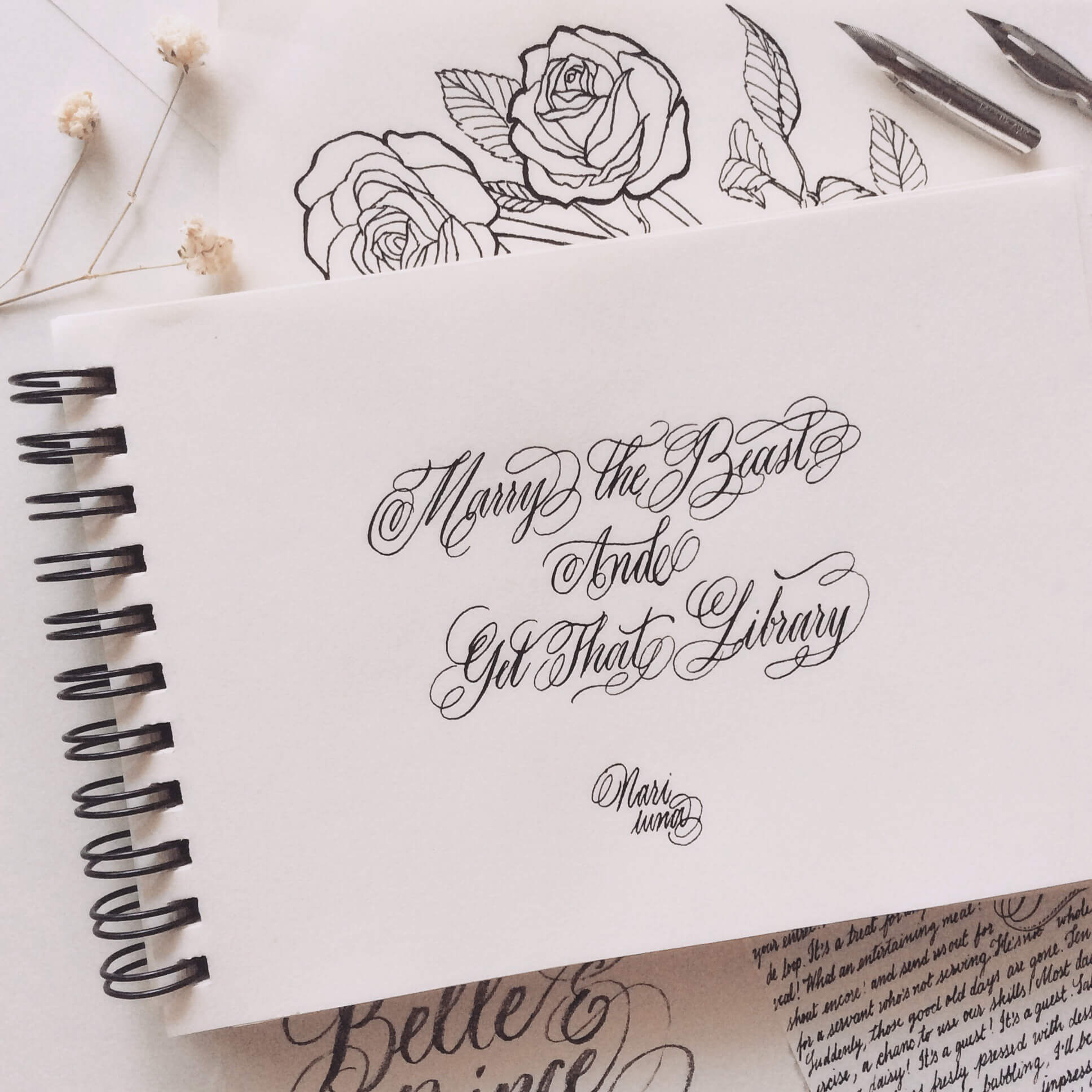 Beautiful Calligraphy and Illustration by Nari Luna — TypeRiot Spotlight